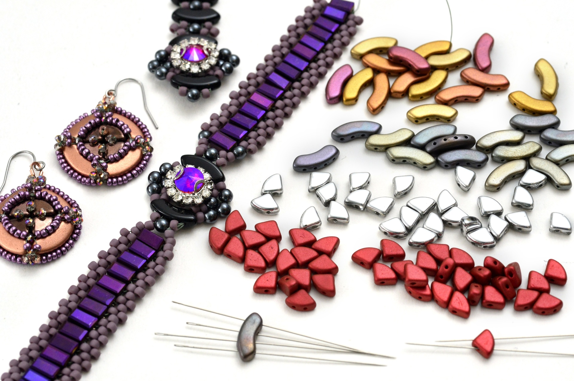 How to Bead Jewelry / Videos Sorted by Beads / QuadBow & PieDuo Bead Videos