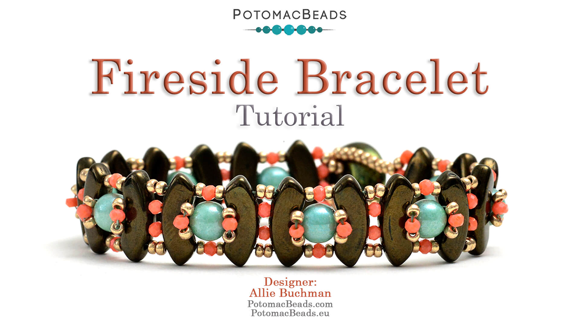 How to Bead / Videos Sorted by Beads / QuadBow & PieDuo Bead Videos / Fireside Bracelet Tutorial