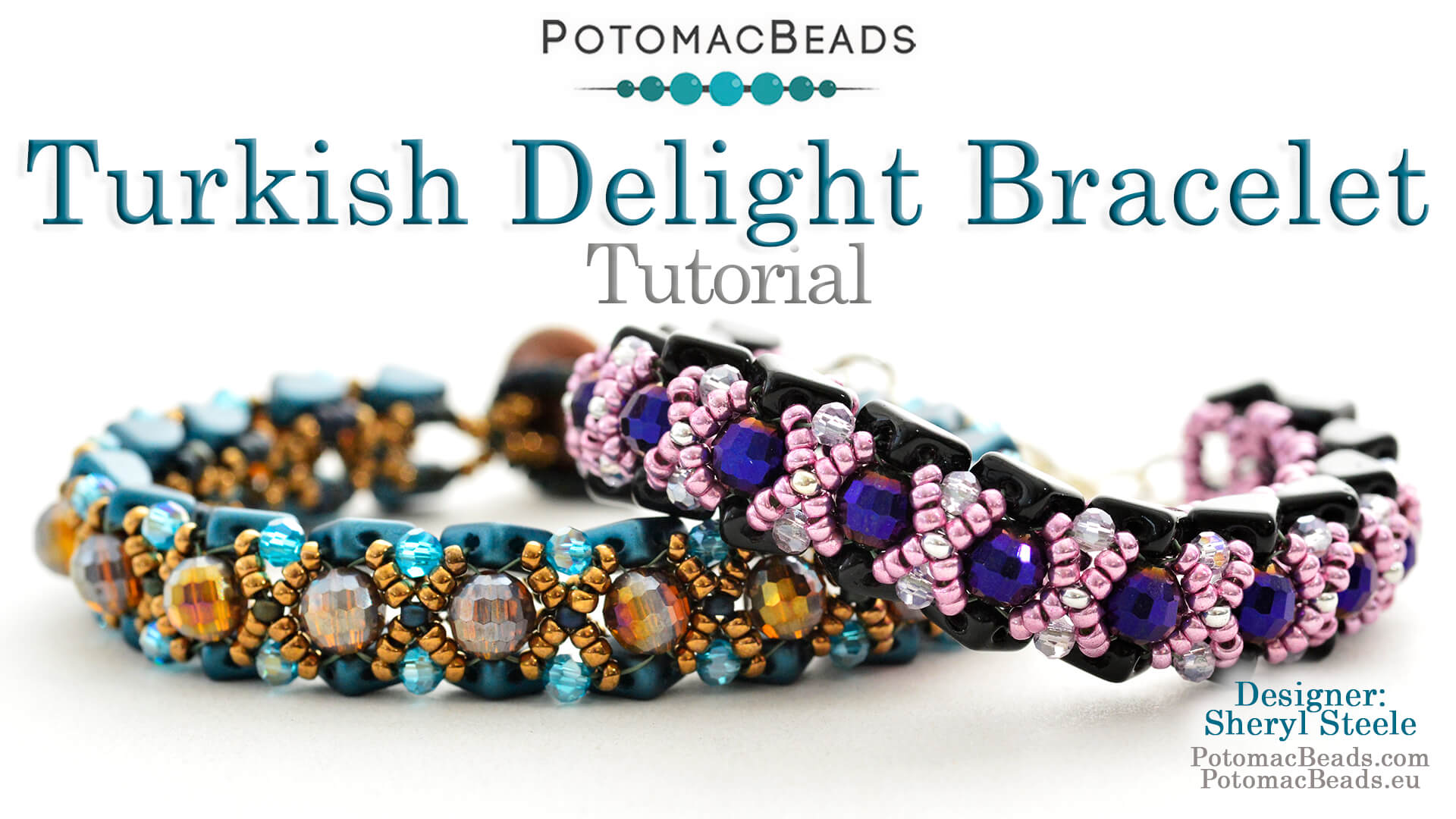 How to Bead / Videos Sorted by Beads / QuadBow & PieDuo Bead Videos / Turkish Delight Bracelet Tutorial