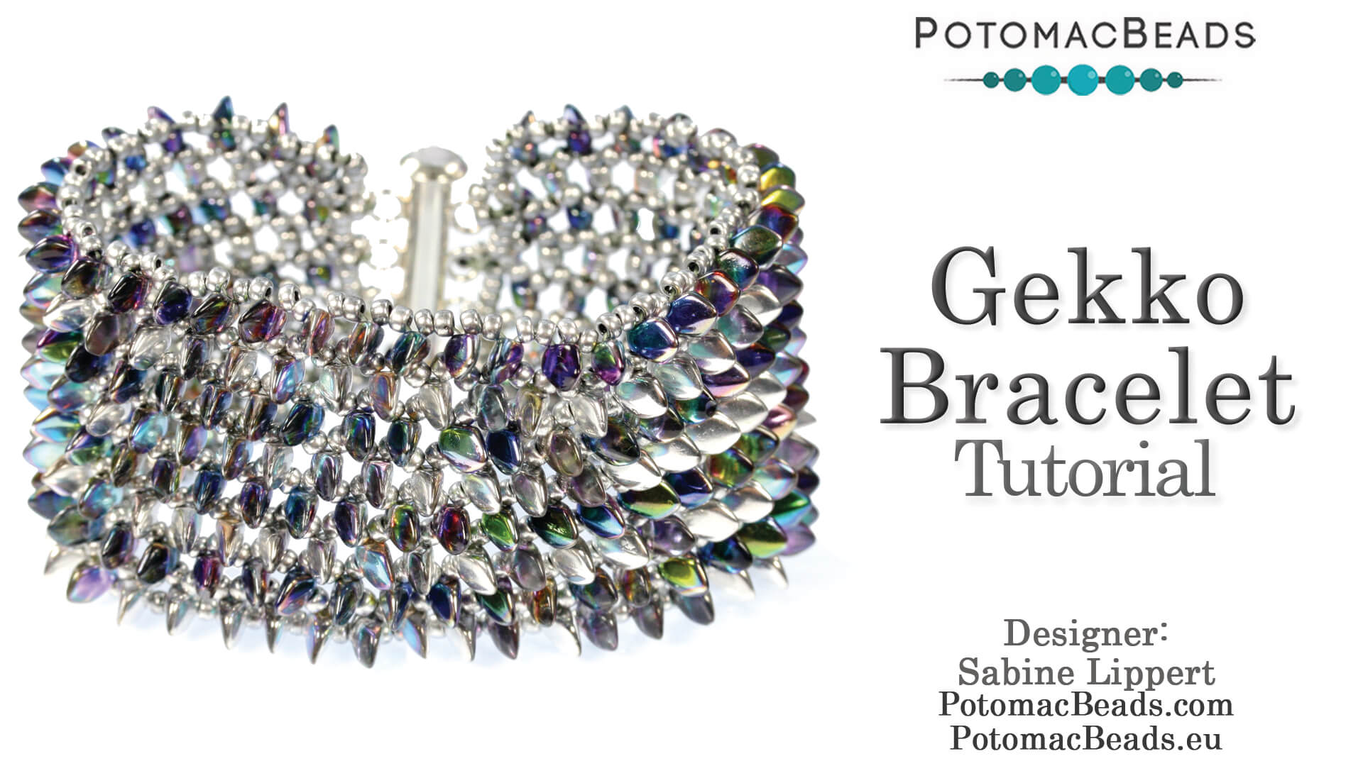How to Bead / Free Video Tutorials / Bracelet Projects / Gekko Bracelet Tutorial