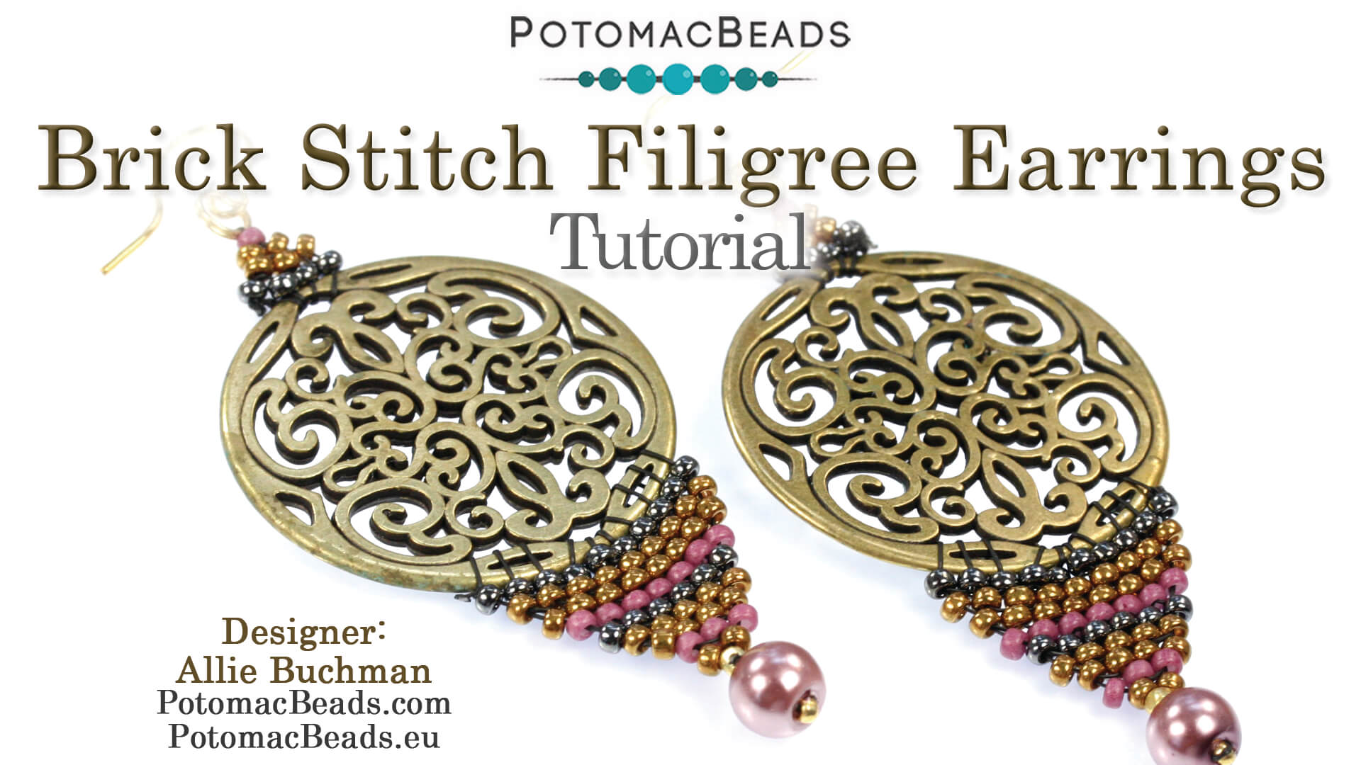 How to Bead Jewelry / Beading Tutorials & Jewel Making Videos / Earring Projects / Brick Stitch Filigree Earrings Tutorial