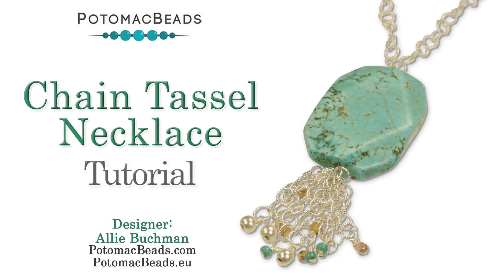 How to Bead Jewelry / Beading Tutorials & Jewel Making Videos / Bead Weaving Tutorials & Necklace Tutorial / Chain Tassel Necklace Tutorial