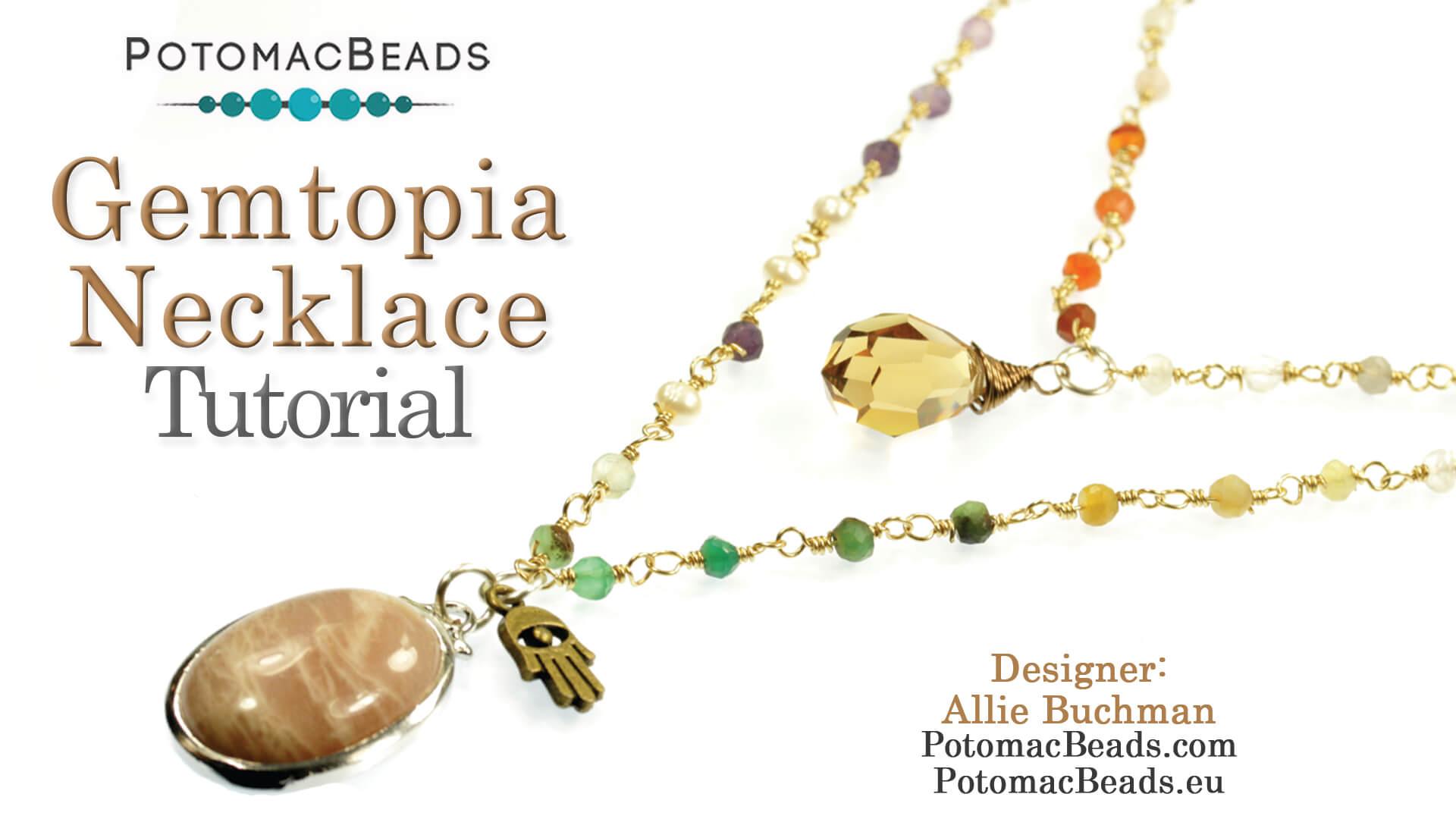 How to Bead Jewelry / Beading Tutorials & Jewel Making Videos / Bead Weaving Tutorials & Necklace Tutorial / Gemtopia Necklace Tutorial