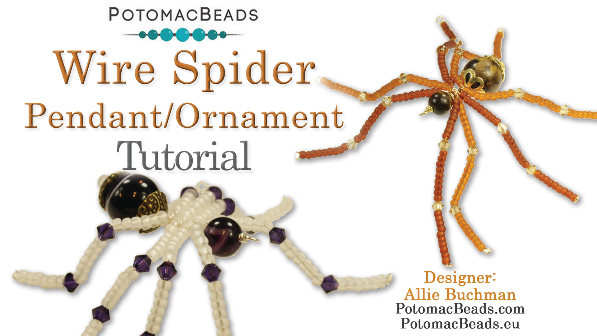 How to Bead / Free Video Tutorials / Holiday Themed Projects / Wire Spider Pendant