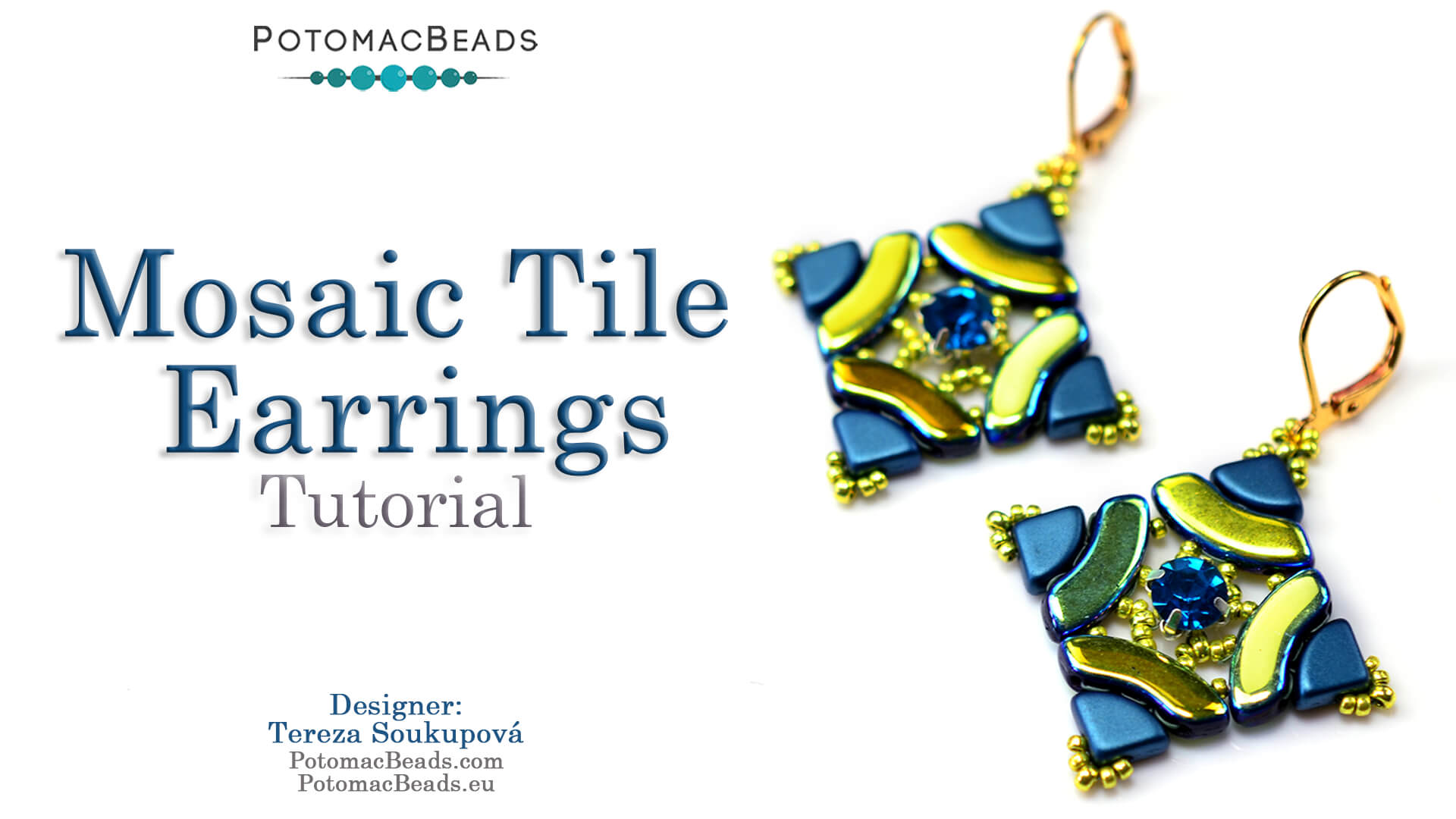 How to Bead Jewelry / Videos Sorted by Beads / QuadBow & PieDuo Bead Videos / Mosaic Tile Earring Tutorial
