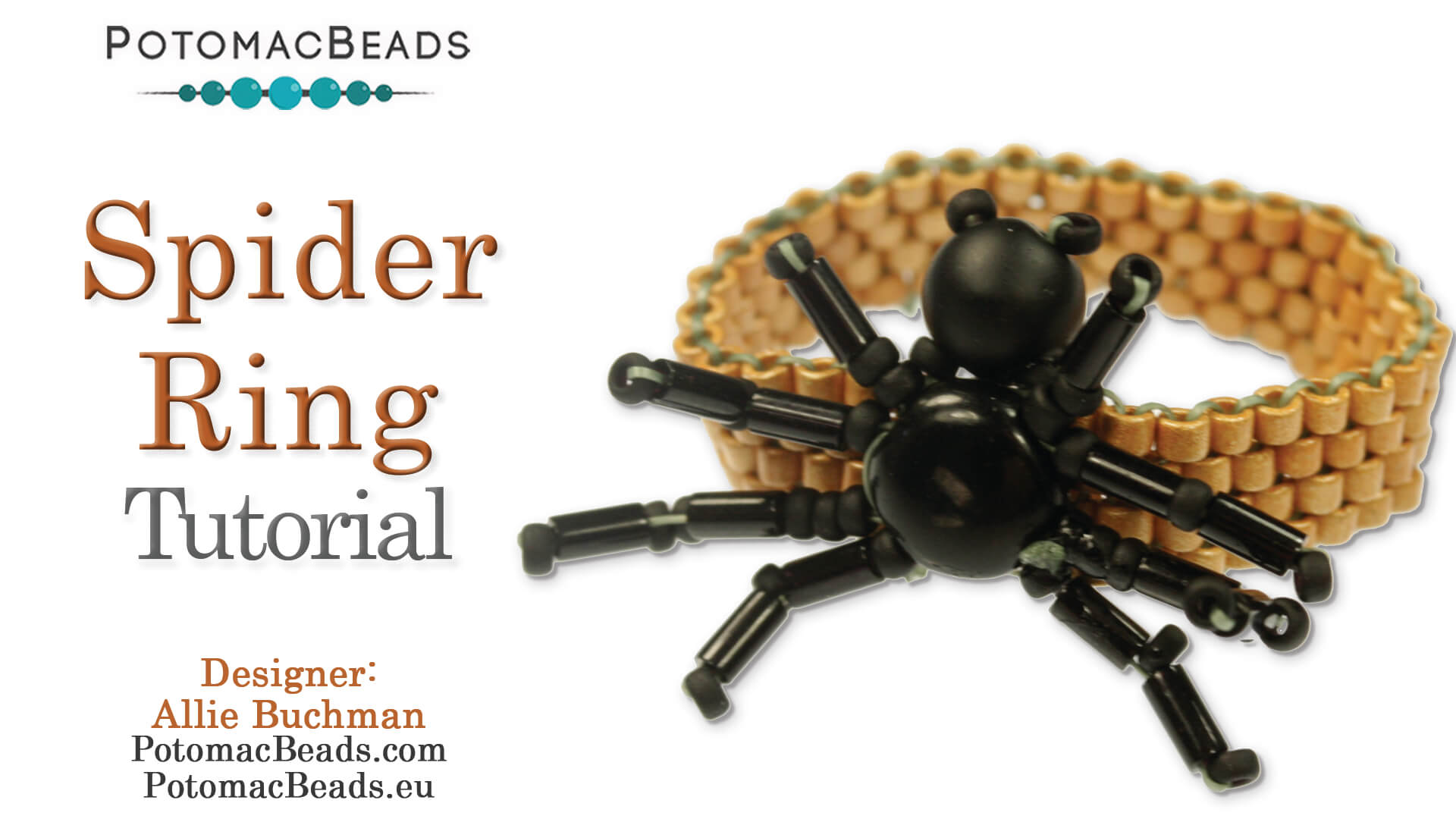 How to Bead Jewelry / Beading Tutorials & Jewel Making Videos / Holiday Themed Projects / Spider Ring Tutorial