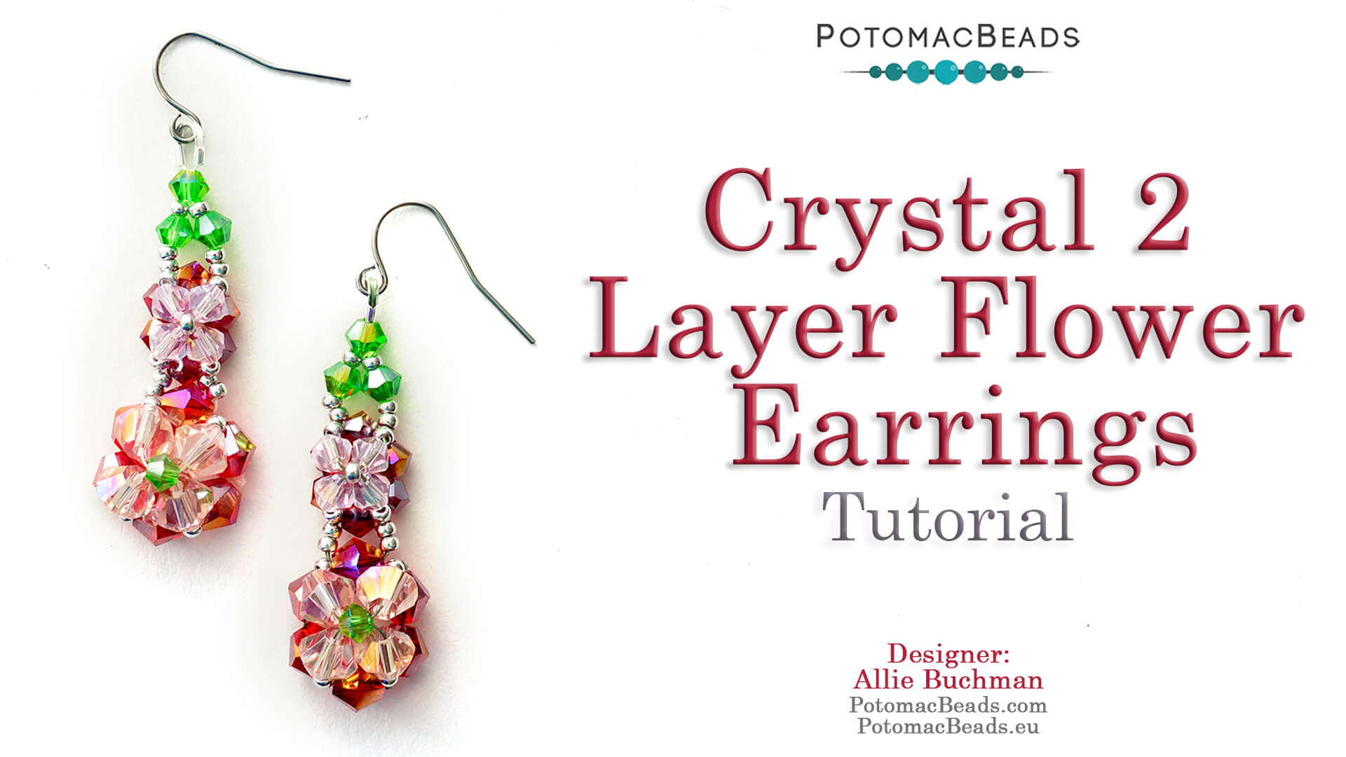 How to Bead / Free Video Tutorials / Earring Projects / Crystal 2 Layer Flower Earrings Tutorial