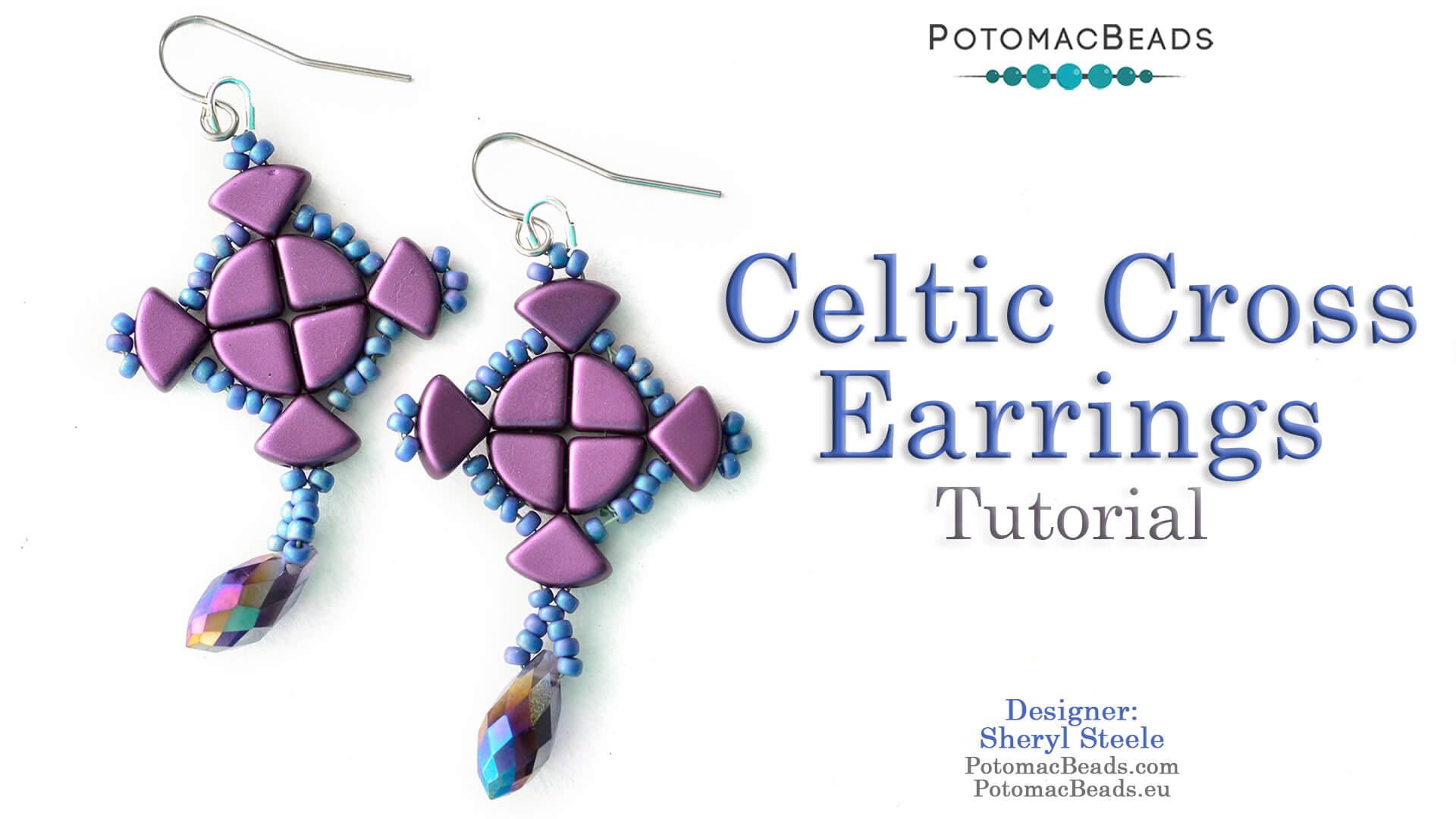 How to Bead / Free Video Tutorials / Earring Projects / Celtic Cross Earrings Tutorial