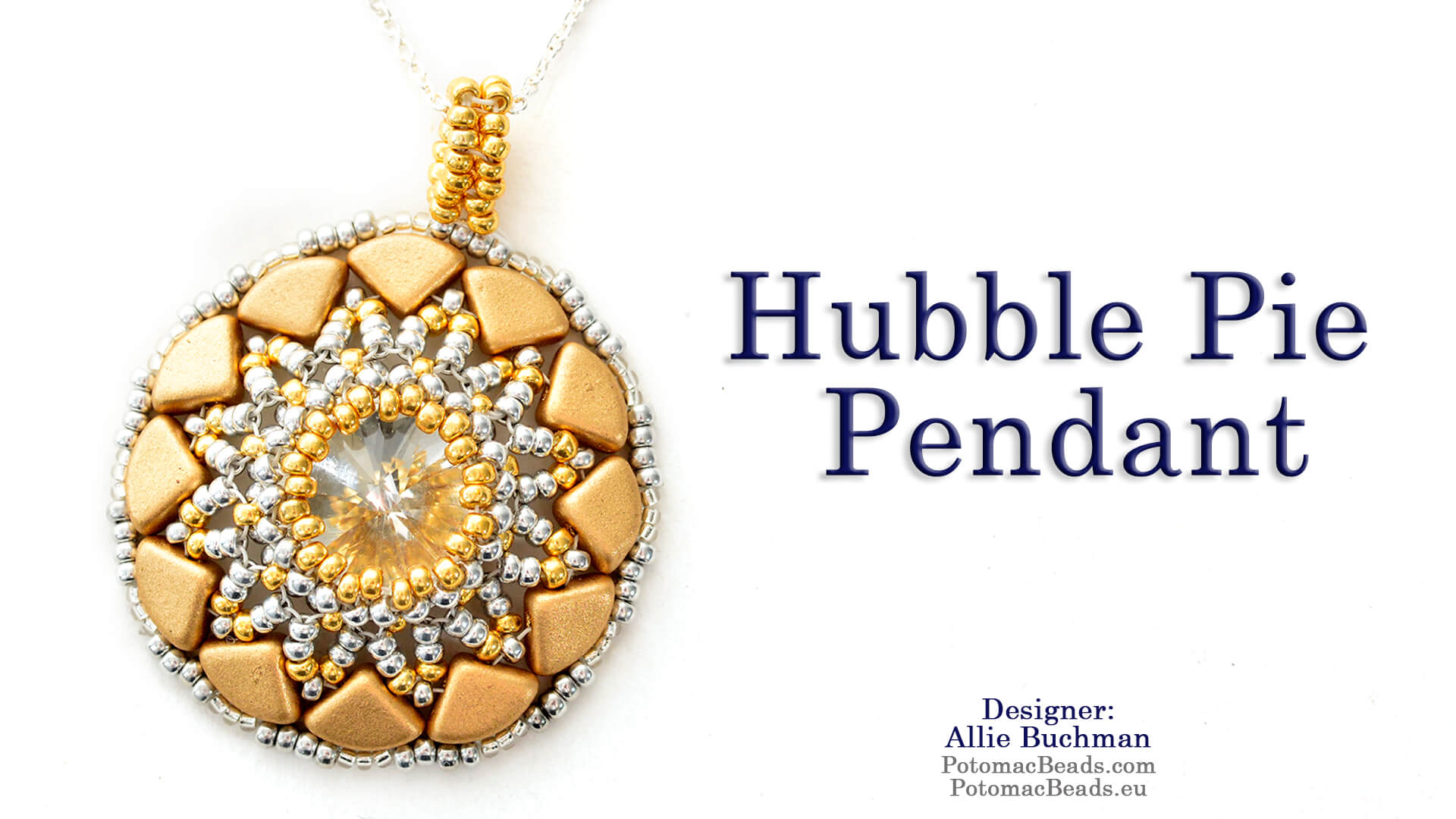 How to Bead Jewelry / Beading Tutorials & Jewel Making Videos / Pendant Projects / Hubble Pie Pendant Tutorial