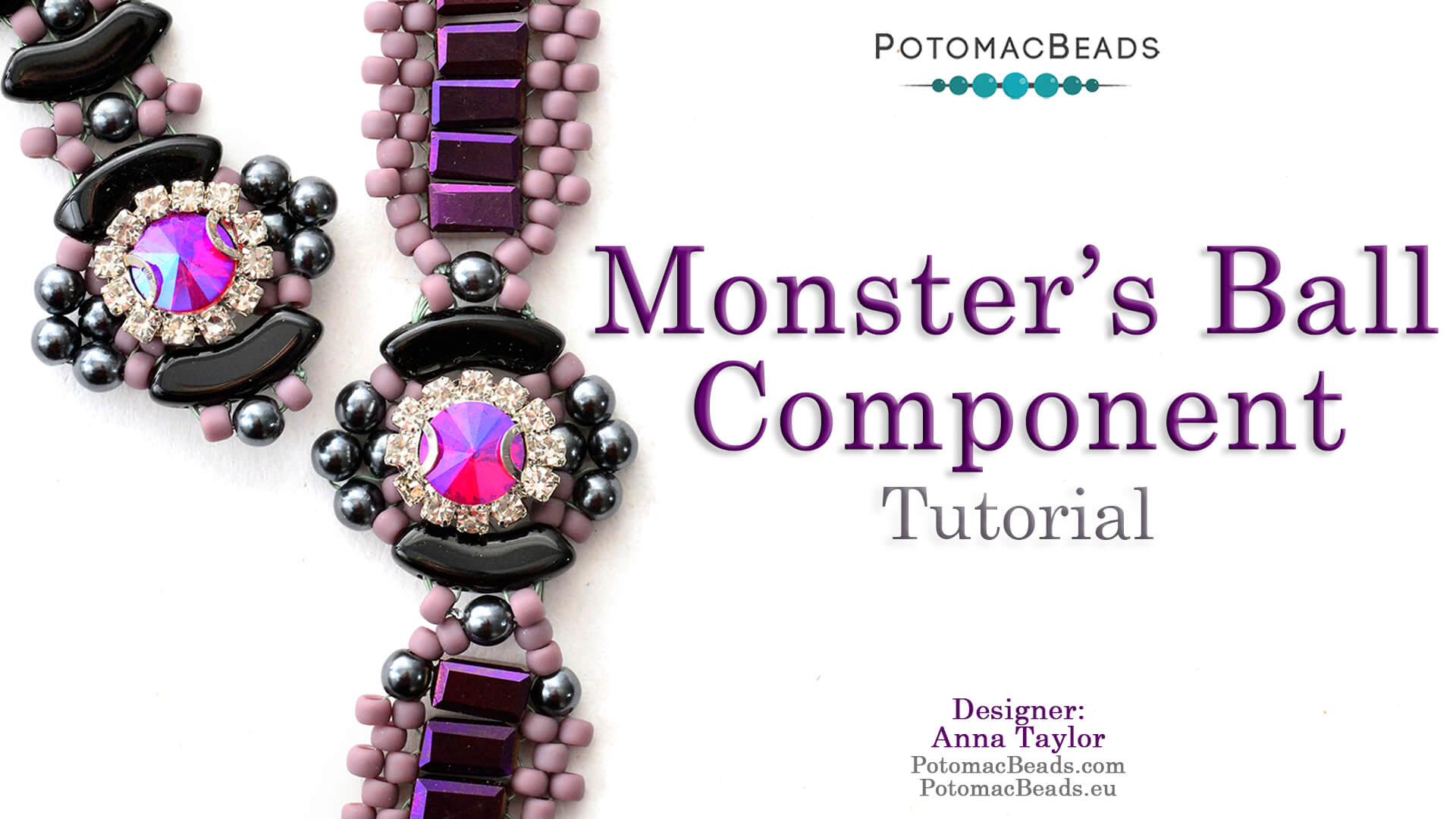 How to Bead / Free Video Tutorials / Beadweaving & Component Projects / Monster's Ball Component