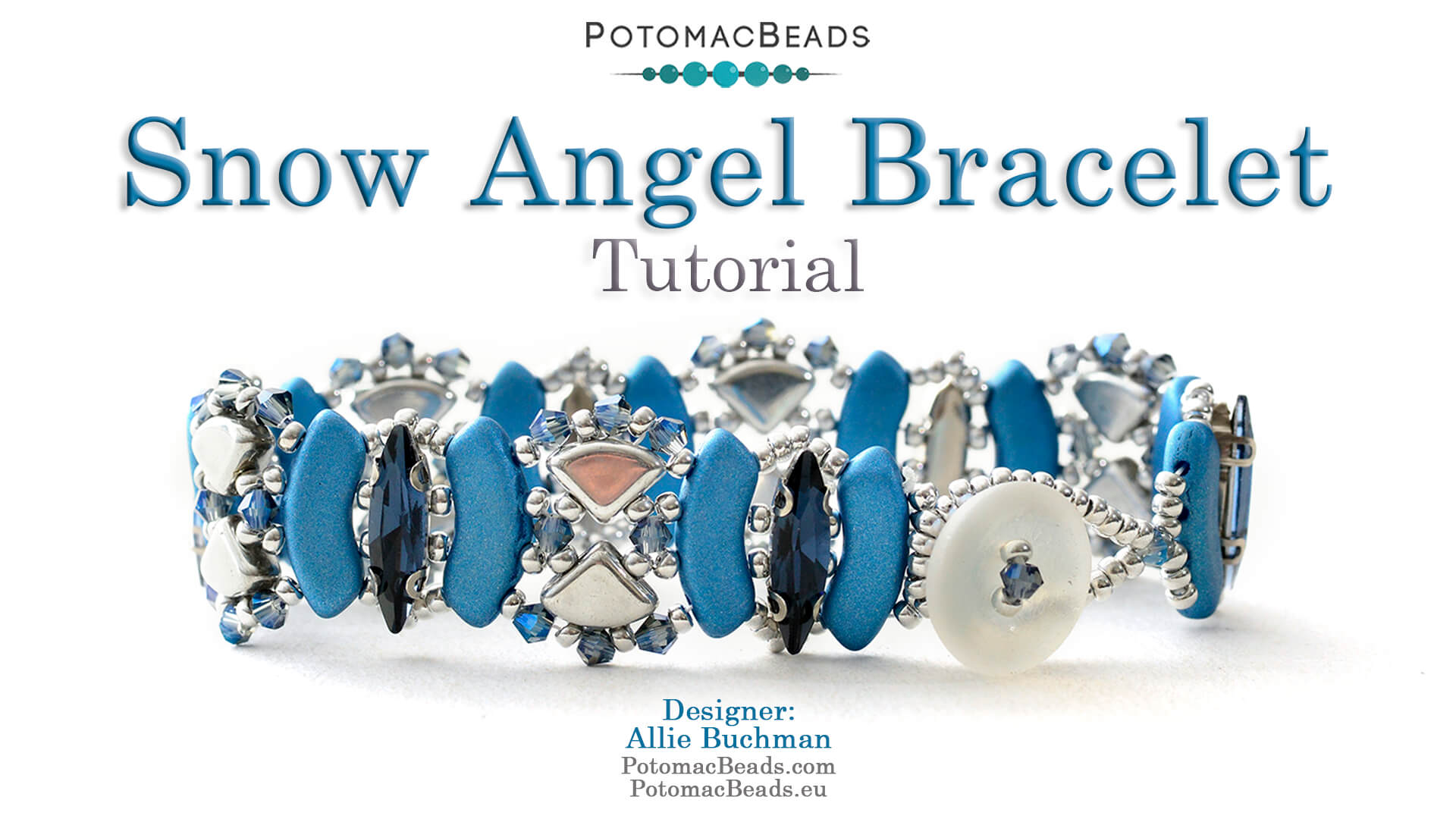How to Bead / Videos Sorted by Beads / Potomac Crystal Videos / Snow Angel Bracelet Tutorial
