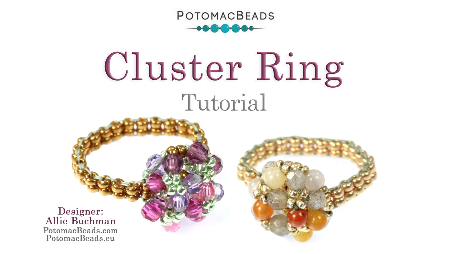 How to Bead Jewelry / Beading Tutorials & Jewel Making Videos / Ring Projects / Cluster Ring Tutorial