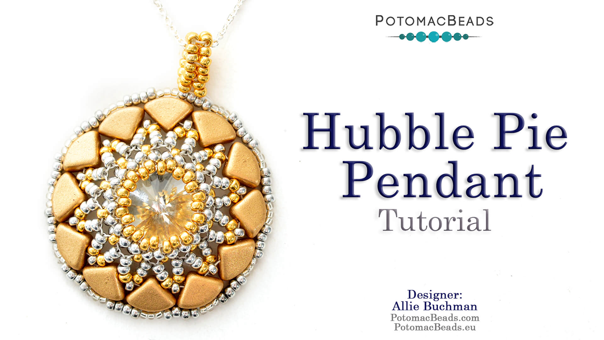 How to Bead / Videos Sorted by Beads / QuadBow & PieDuo Bead Videos / Hubble Pie Pendant Tutorial