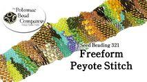 How to Bead Jewelry / Beading Tutorials & Jewel Making Videos / Bracelet Projects / FreeForm Peyote Stitch Tutorial