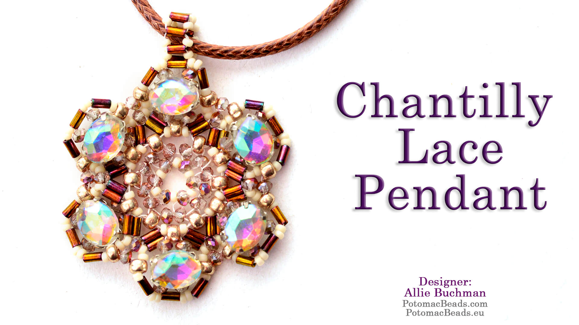 How to Bead / Free Video Tutorials / Pendant Projects / Chantilly Lace Pendant Tutorial