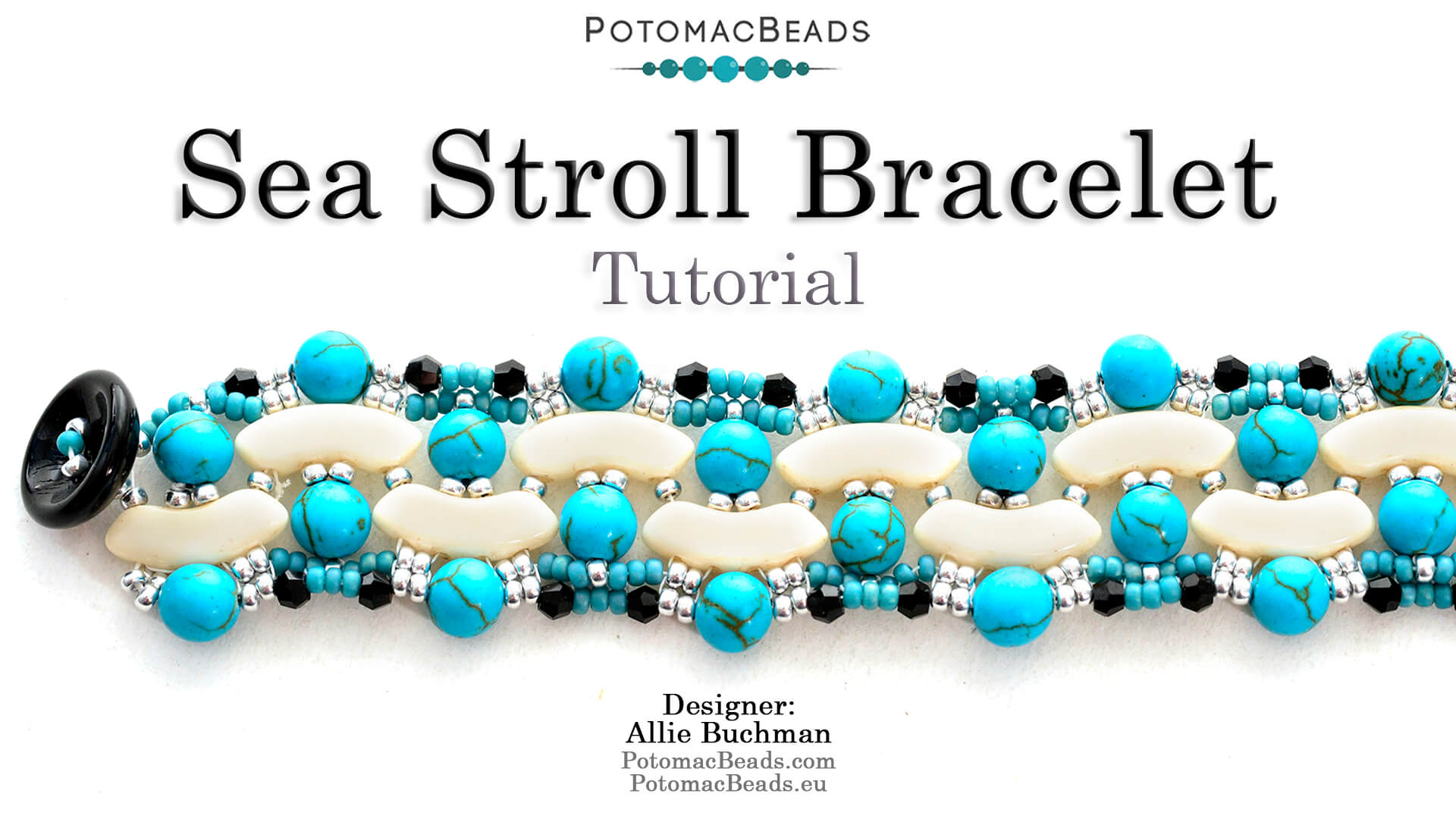 How to Bead Jewelry / Videos Sorted by Beads / QuadBow & PieDuo Bead Videos / Sea Stroll Bracelet Tutorial