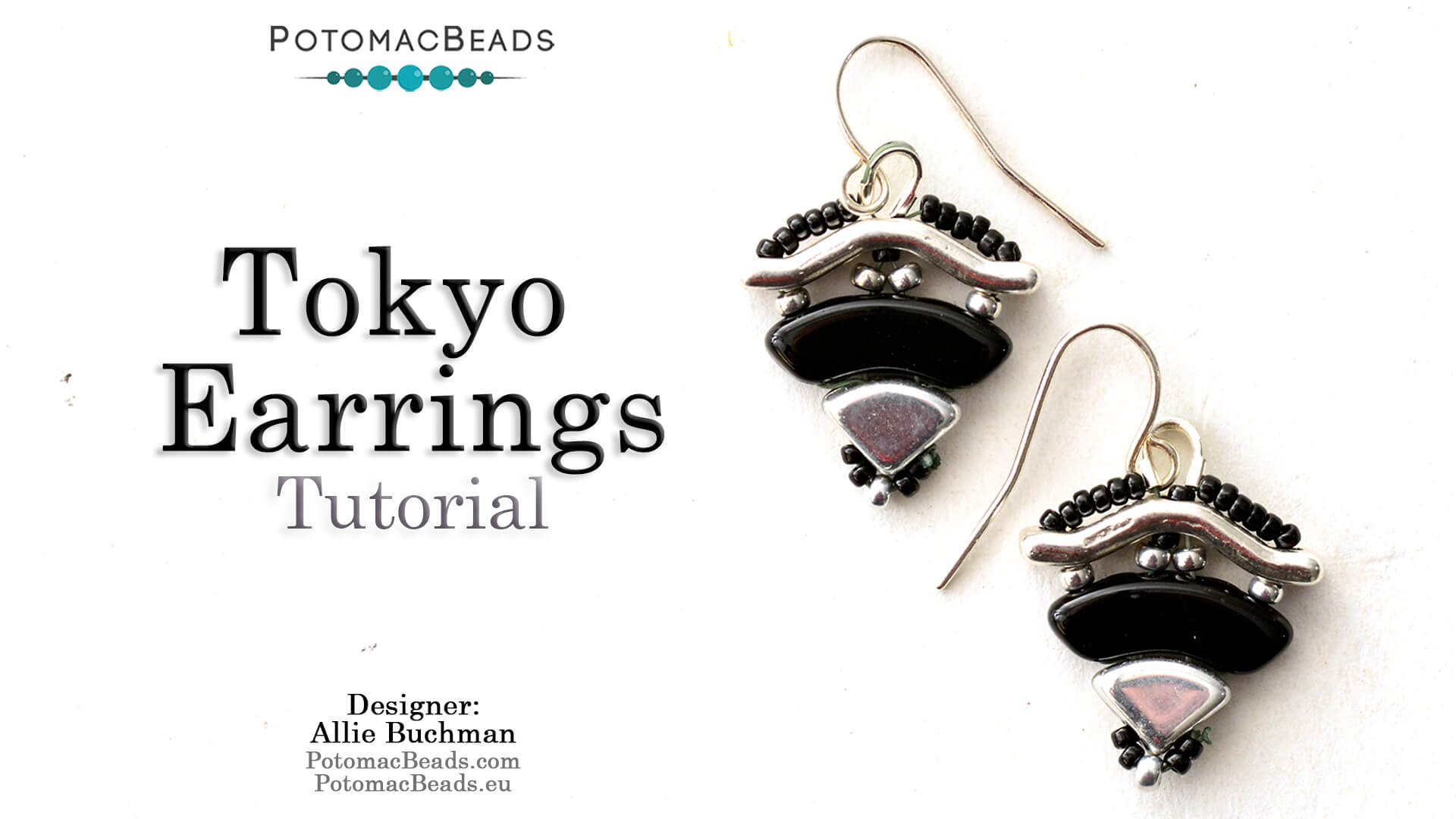 How to Bead / Videos Sorted by Beads / Potomax Metal Bead Videos / Tokyo Earrings Tutorial
