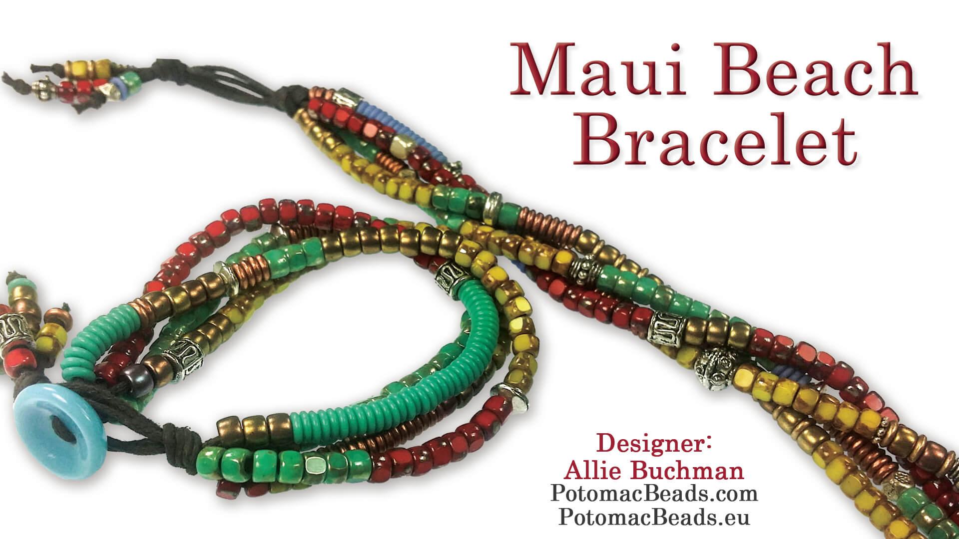 How to Bead Jewelry / Beading Tutorials & Jewel Making Videos / Bracelet Projects / Maui Beach Bracelet Tutorial