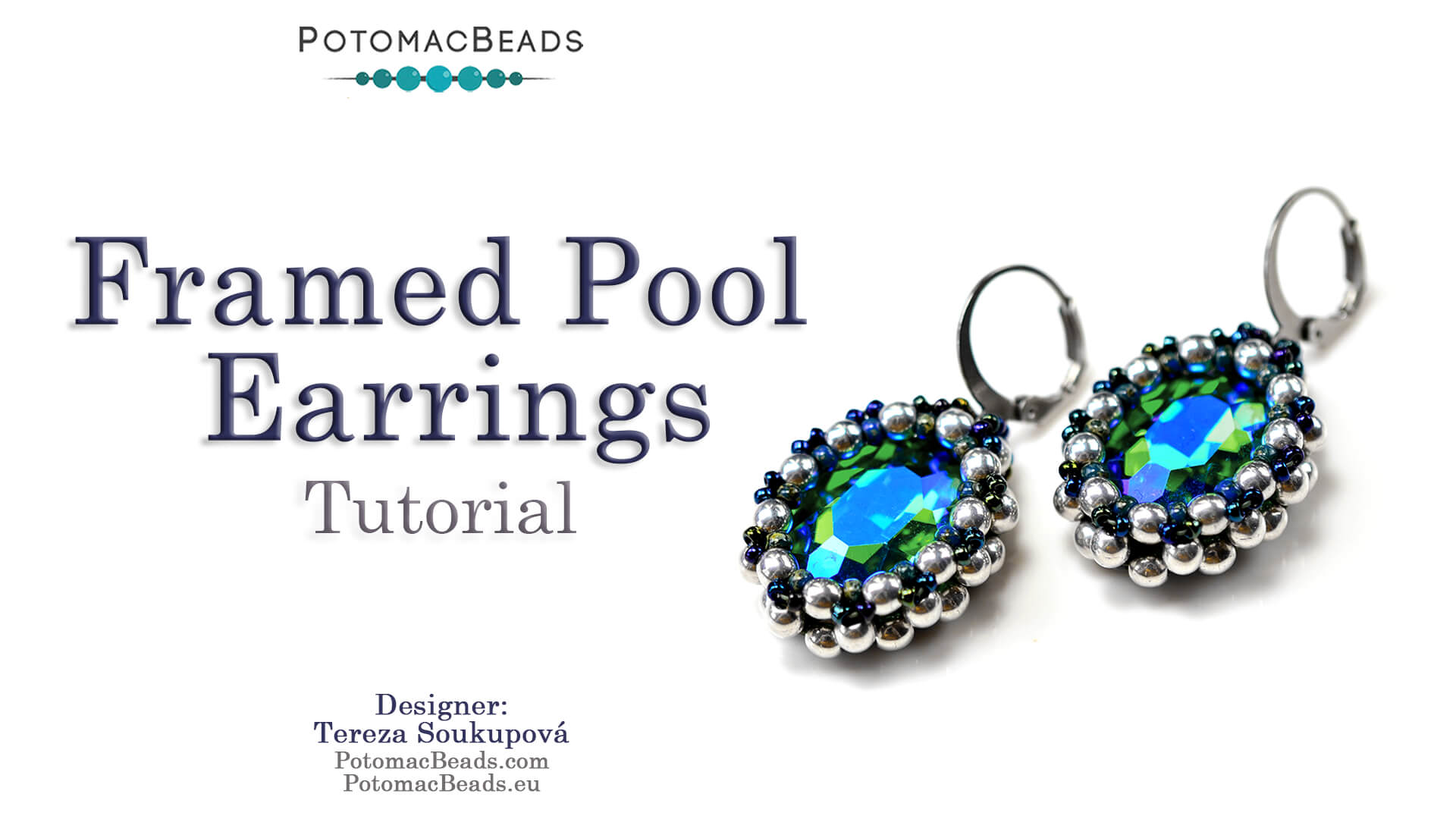 How to Bead / Videos Sorted by Beads / Potomac Crystal Videos / Framed Pool Earrings Tutorial