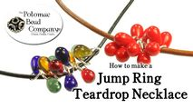 How to Bead / Free Video Tutorials / Stringing & Knotting Projects / Jump Ring Drop Cluster Necklace