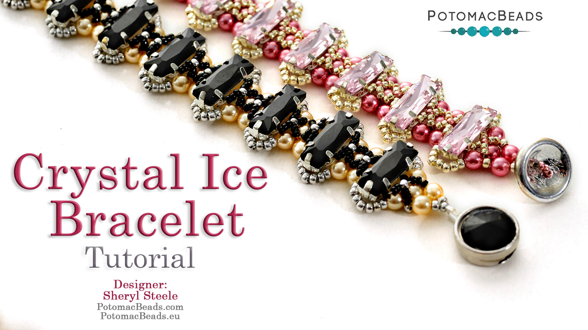 How to Bead Jewelry / Videos Sorted by Beads / Potomax Metal Bead Videos / Crystal Ice Bracelet Tutorial