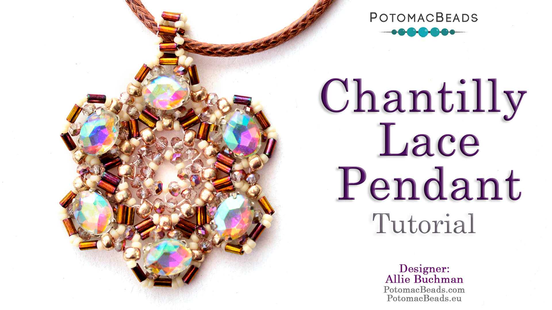 How to Bead / Videos Sorted by Beads / Potomac Crystal Videos / Chantilly Lace Pendant Tutorial