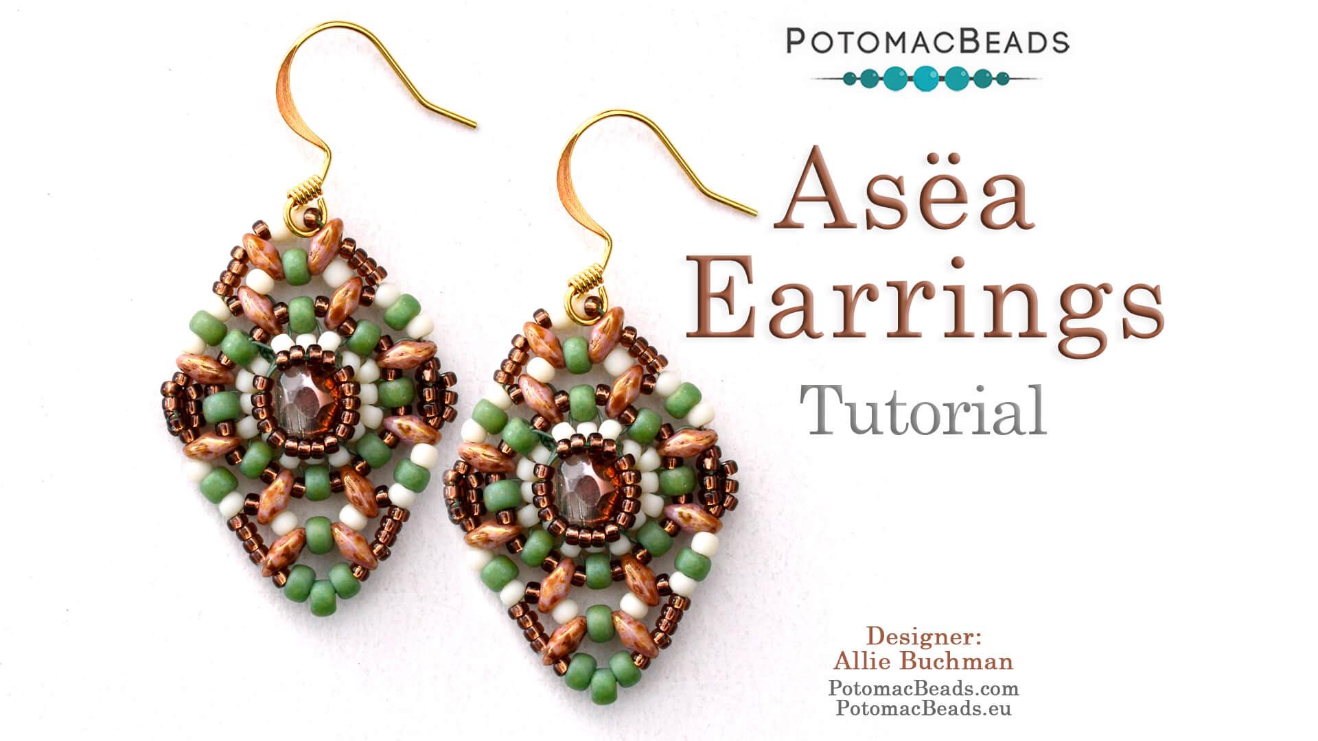 How to Bead Jewelry / Beading Tutorials & Jewel Making Videos / Earring Projects / Asëa Earrings Tutorial