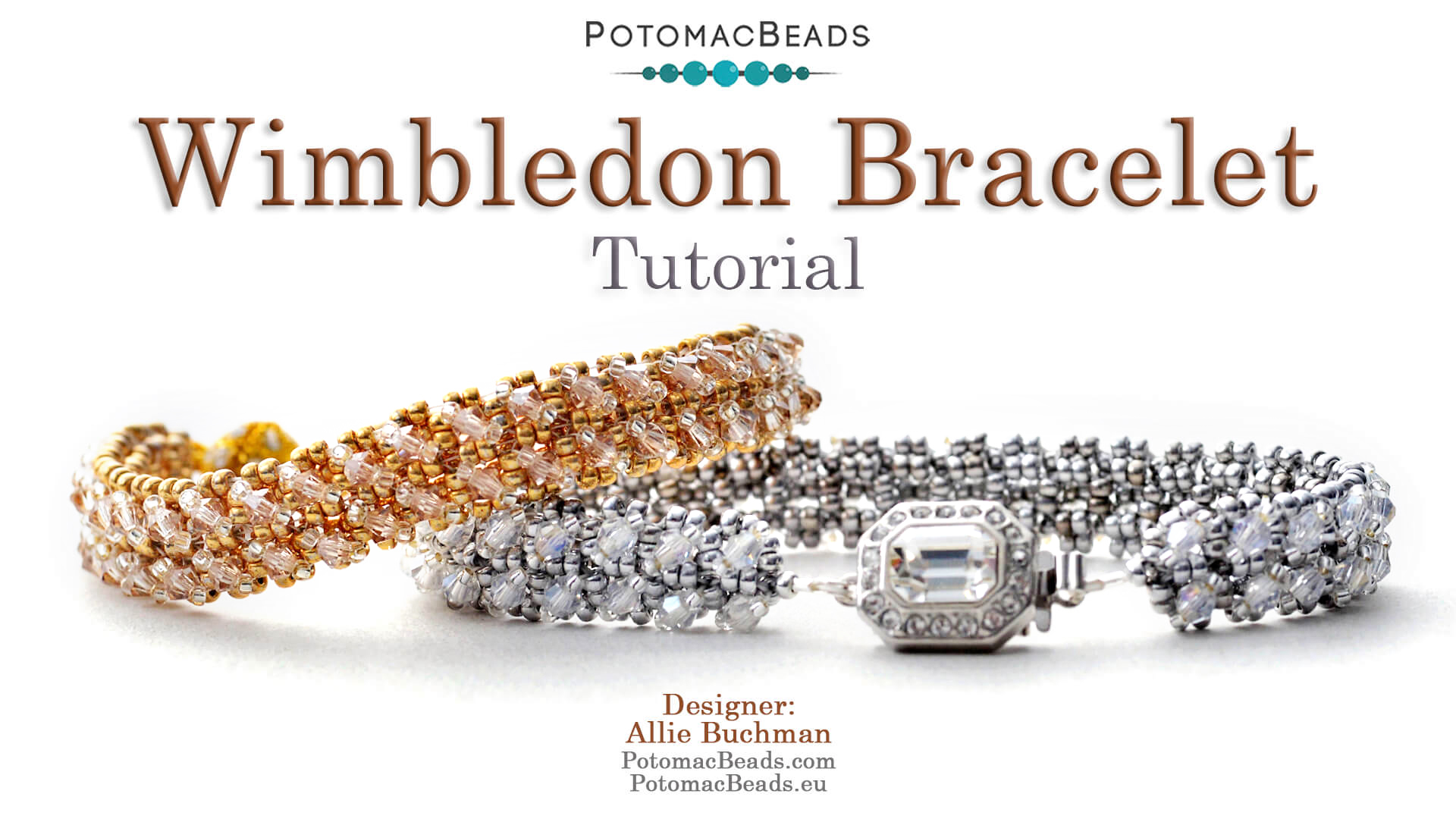 How to Bead Jewelry / Videos Sorted by Beads / Potomac Crystal Videos / Wimbledon Bracelet Tutorial