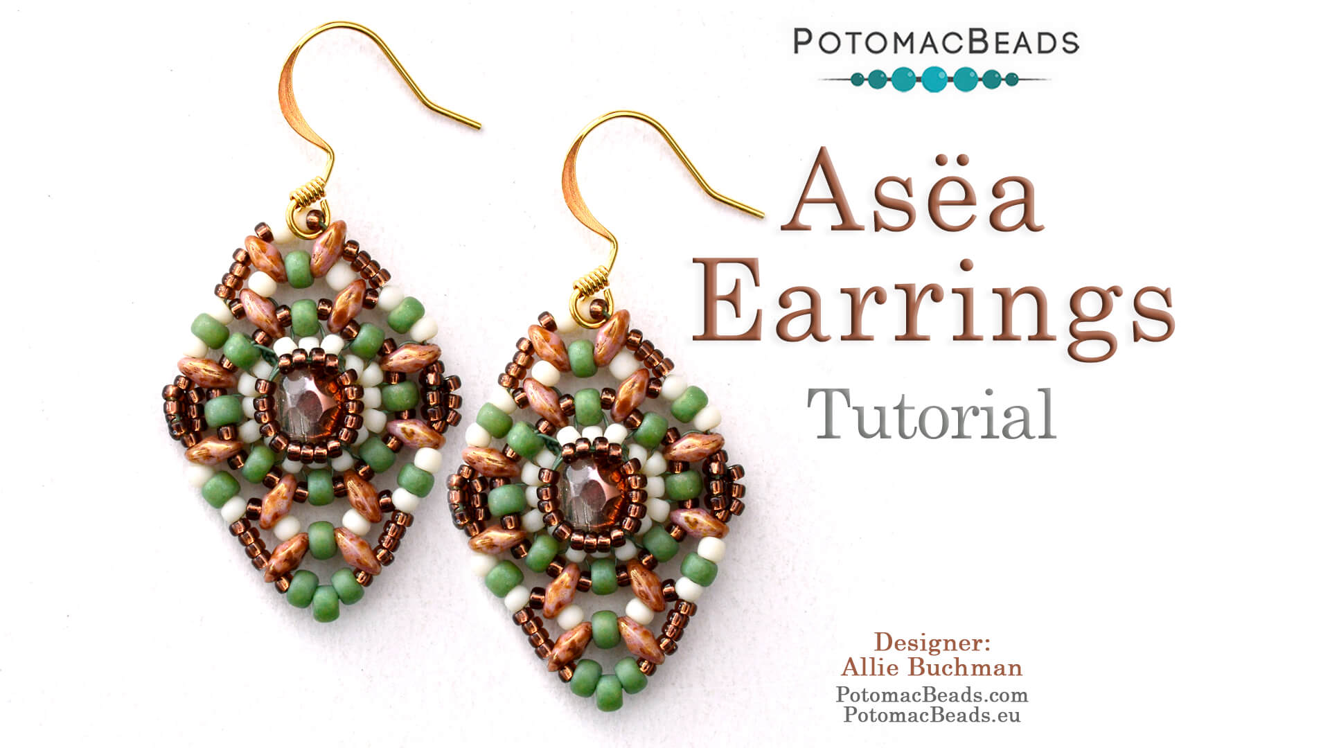 How to Bead Jewelry / Videos Sorted by Beads / RounTrio® & RounTrio® Faceted Bead Videos / Asëa Earrings Tutorial
