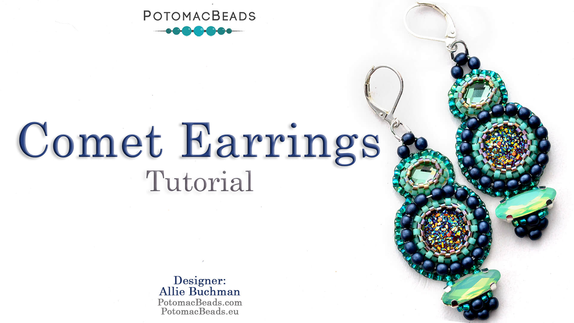 How to Bead / Videos Sorted by Beads / Cabochon Videos / Comet Earrings Tutorial