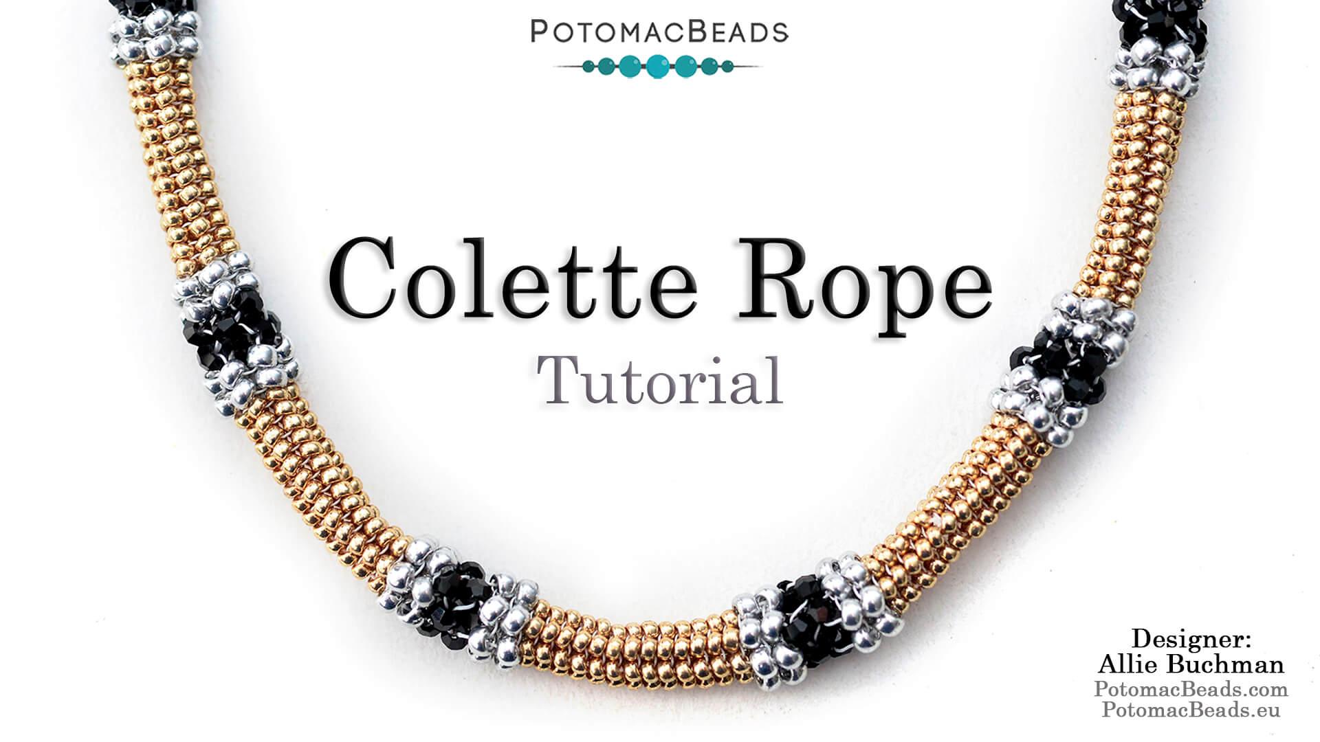 How to Bead Jewelry / Beading Tutorials & Jewel Making Videos / Bead Weaving Tutorials & Necklace Tutorial / Colette Rope Tutorial