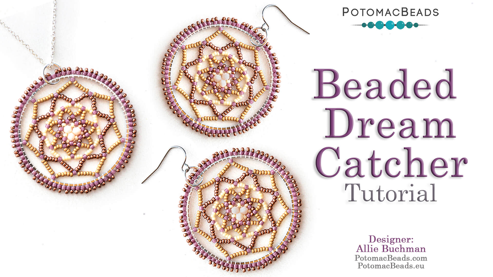 How to Bead Jewelry / Beading Tutorials & Jewel Making Videos / Earring Projects / Beaded Dream Catcher Tutorial
