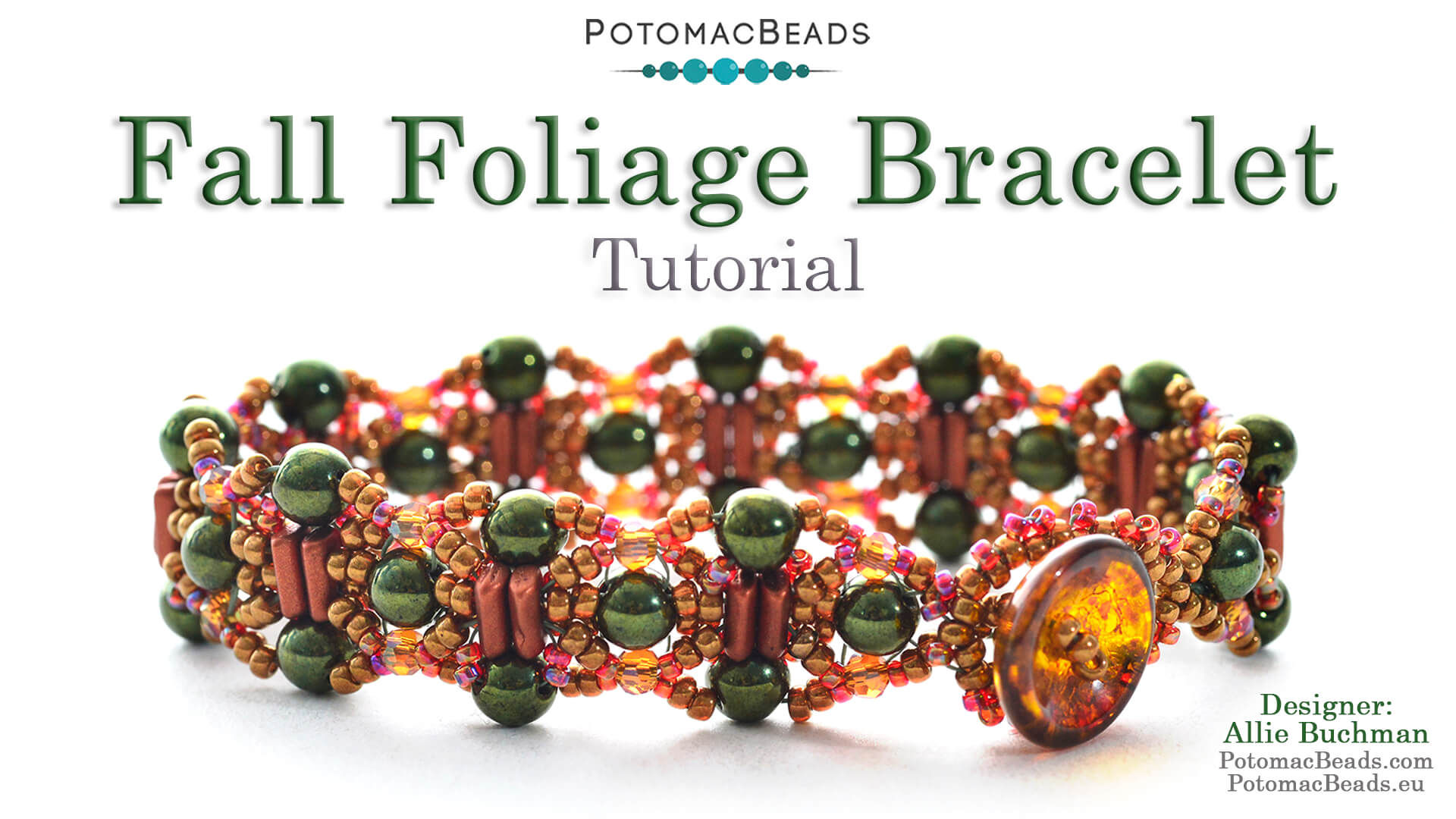 How to Bead Jewelry / Videos Sorted by Beads / Potomac Crystal Videos / Fall Foliage Bracelet Tutorial