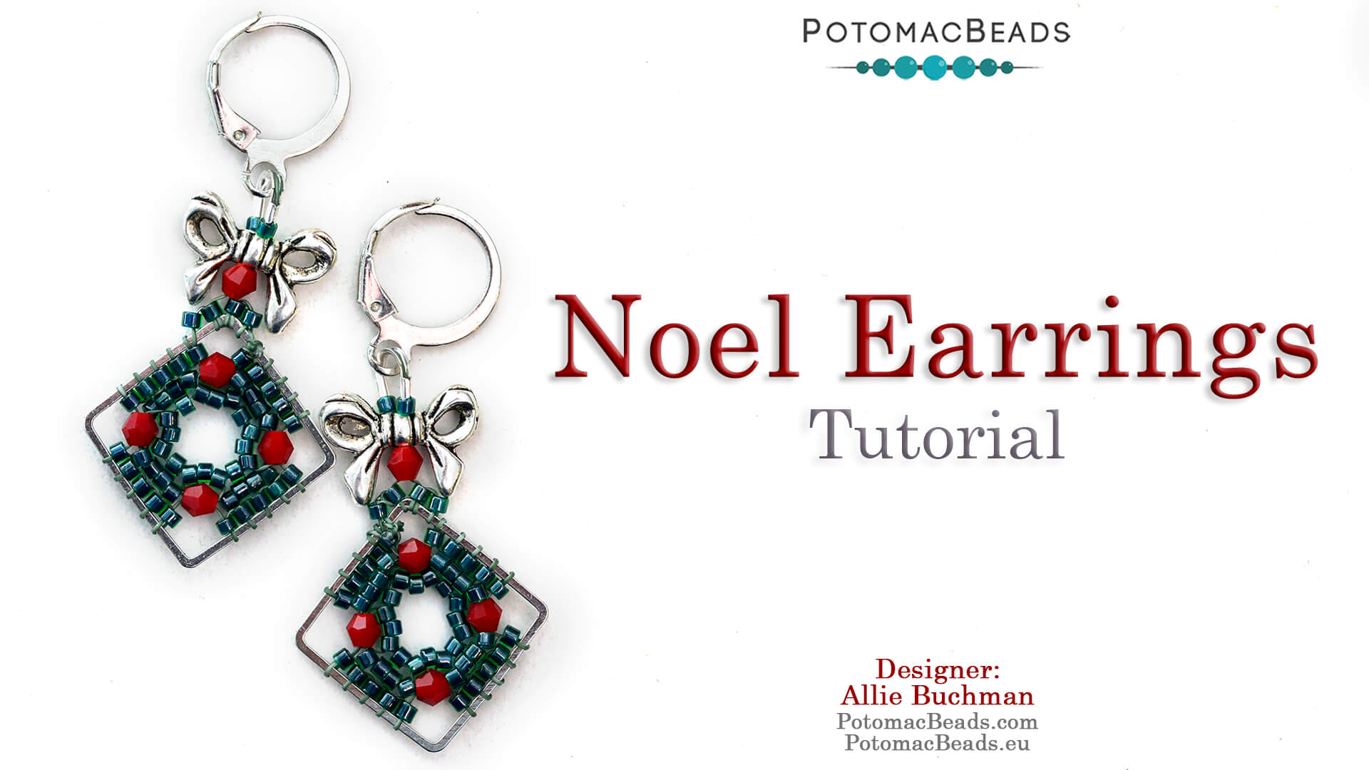 How to Bead / Free Video Tutorials / Holiday Themed Projects / Noel Earrings Tutorial