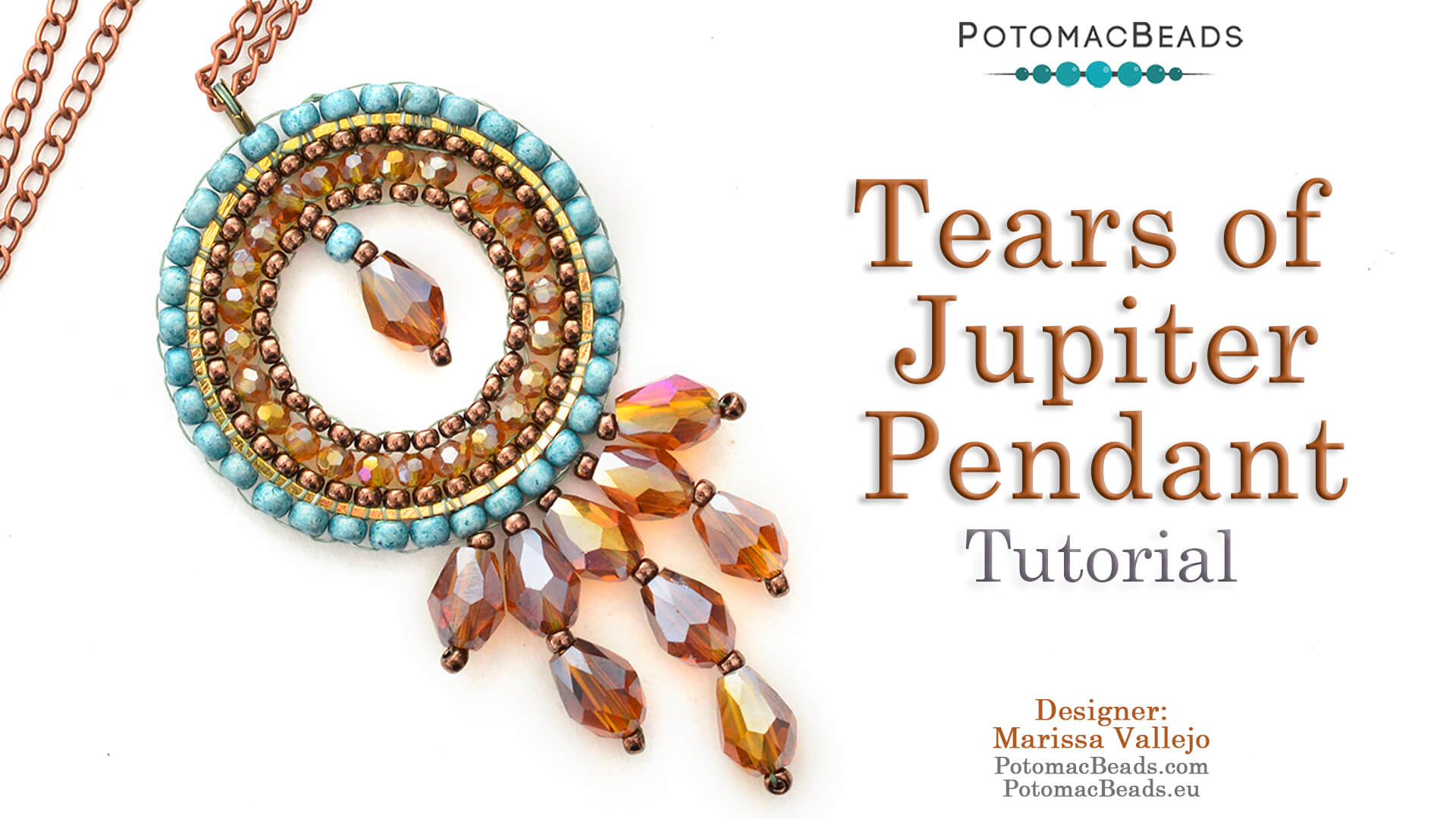 How to Bead Jewelry / Videos Sorted by Beads / Potomac Crystal Videos / Tears of Jupiter Pendant Tutorial