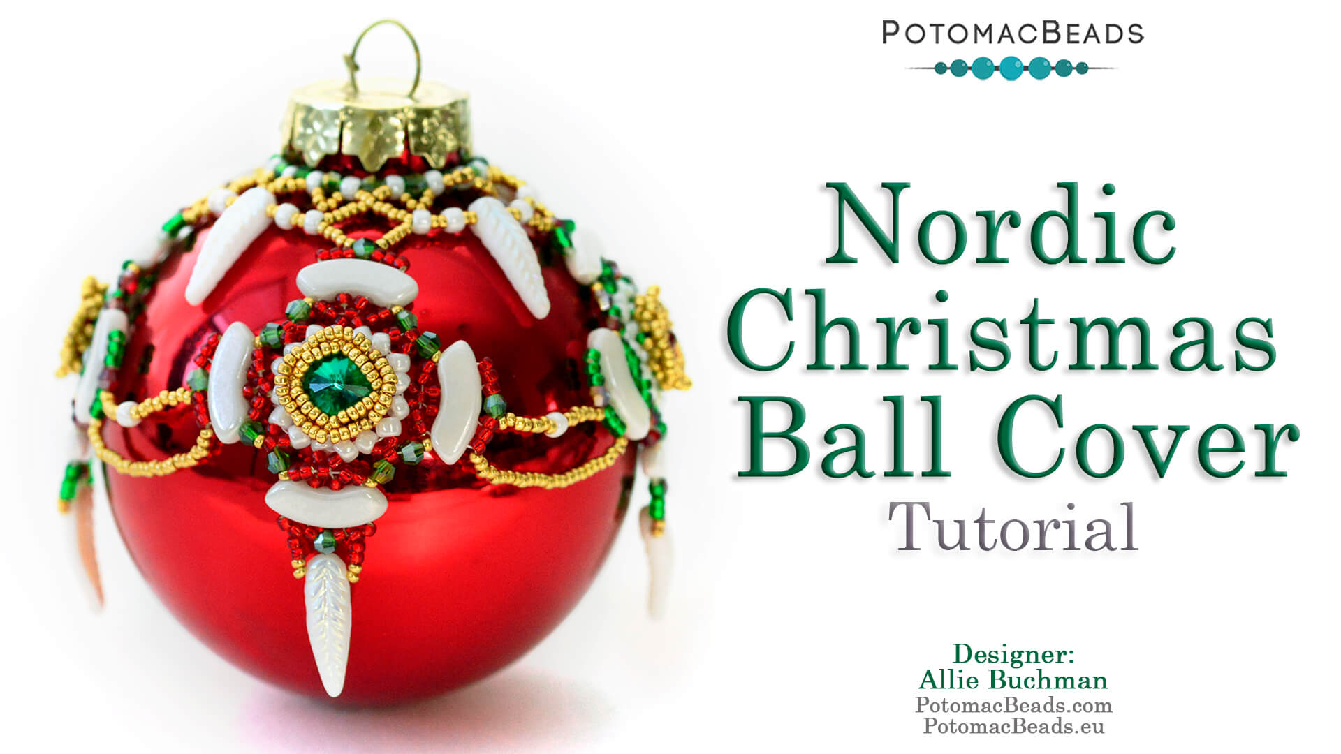 How to Bead / Free Video Tutorials / Holiday Themed Projects / Nordic Christmas Ball Cover Tutorial
