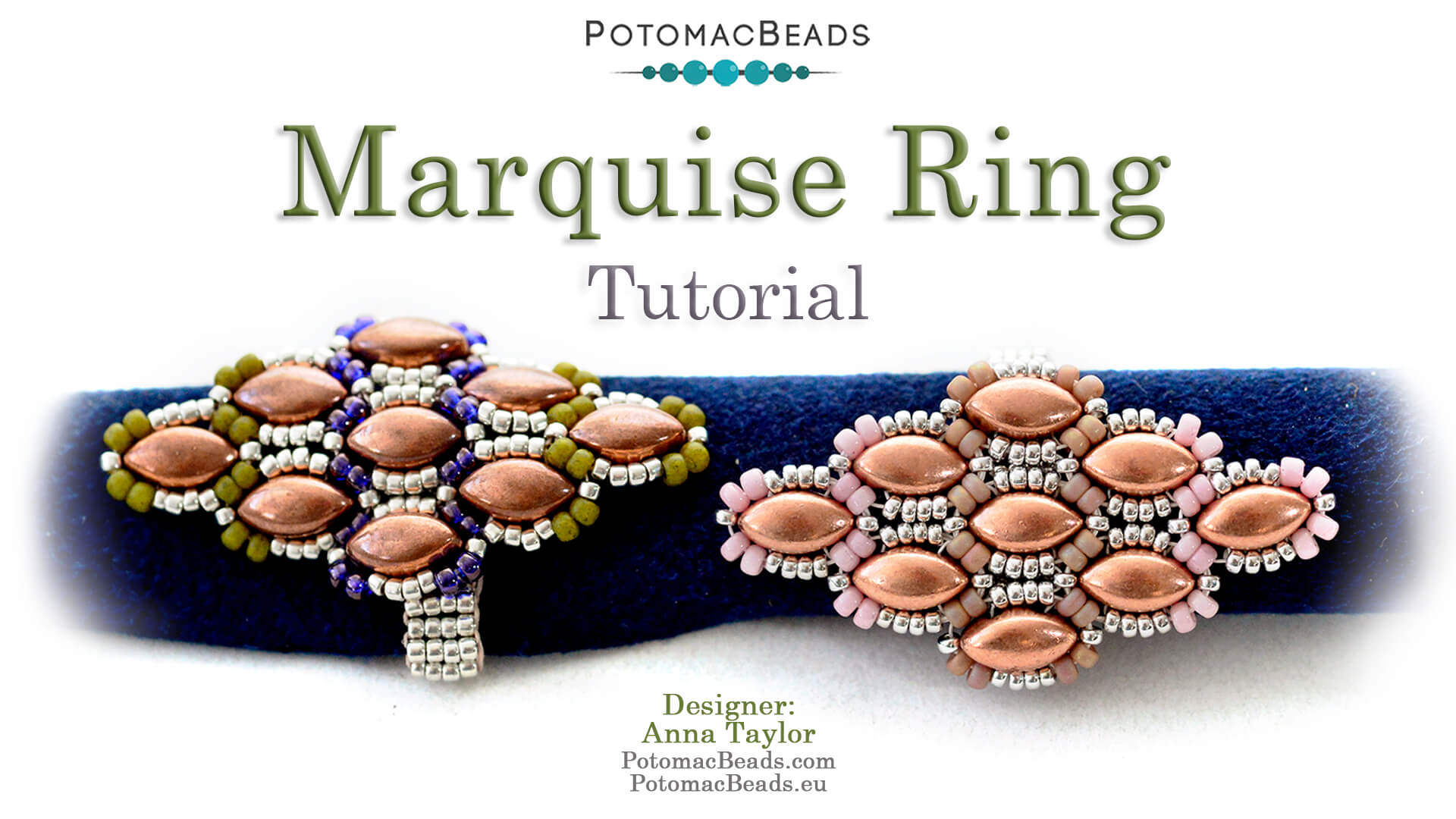 How to Bead / Free Video Tutorials / Beadweaving & Component Projects / Marquise Ring Tutorial