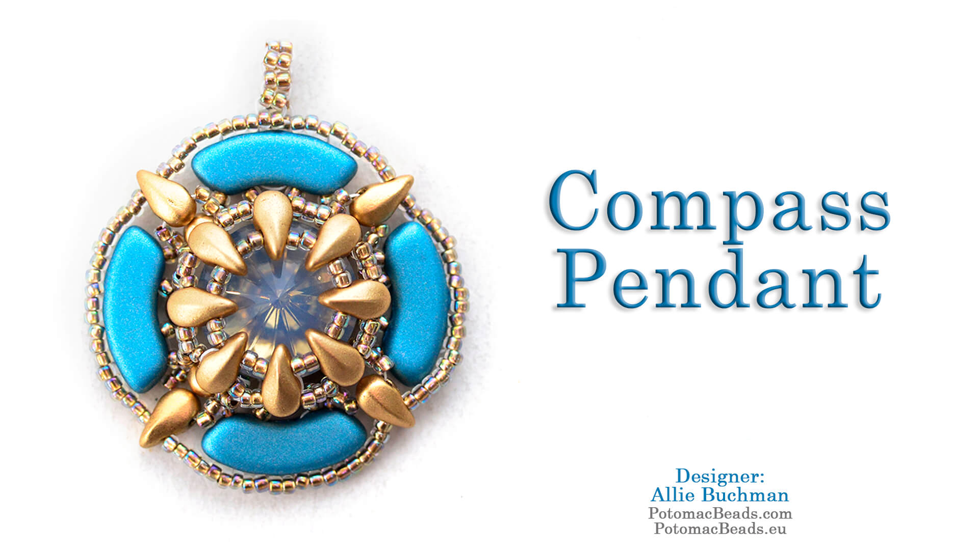 How to Bead / Free Video Tutorials / Pendant Projects / Compass Pendant Tutorial