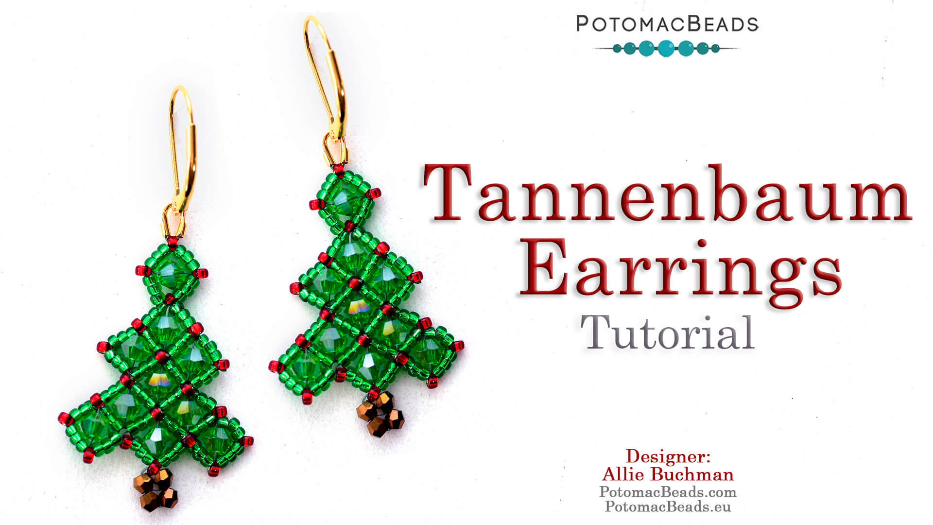 How to Bead / Free Video Tutorials / Holiday Themed Projects / Tannenbaum Earrings Tutorial