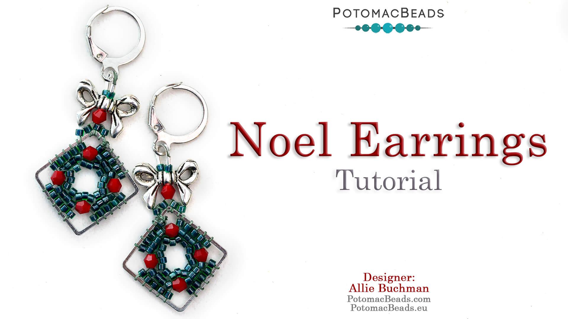 How to Bead Jewelry / Videos Sorted by Beads / Potomac Crystal Videos / Noel Earrings Tutorial