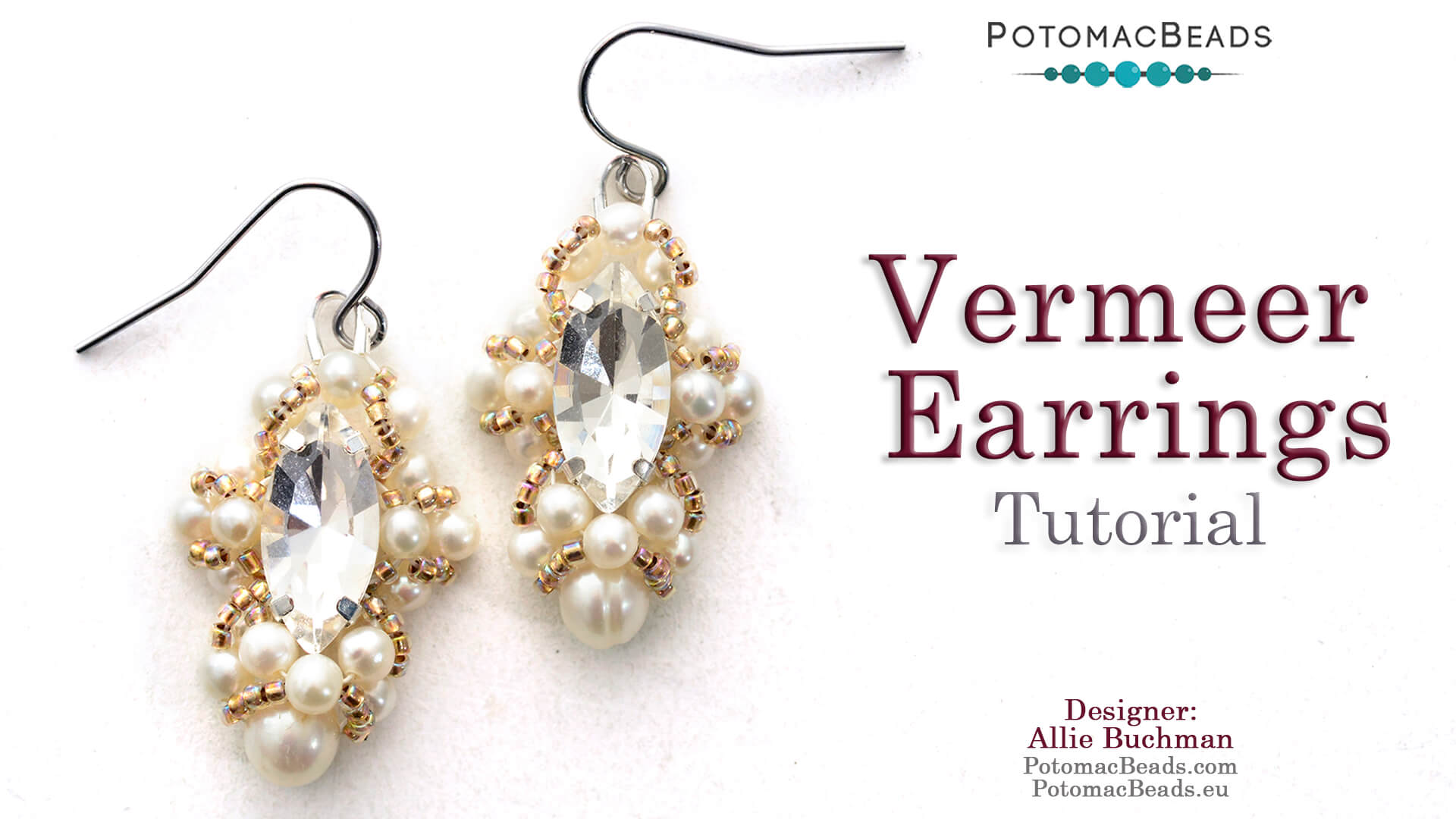 How to Bead Jewelry / Videos Sorted by Beads / Pearl Videos (Czech, Freshwater, Potomac Pearls) / Vermeer Earrings Tutorial
