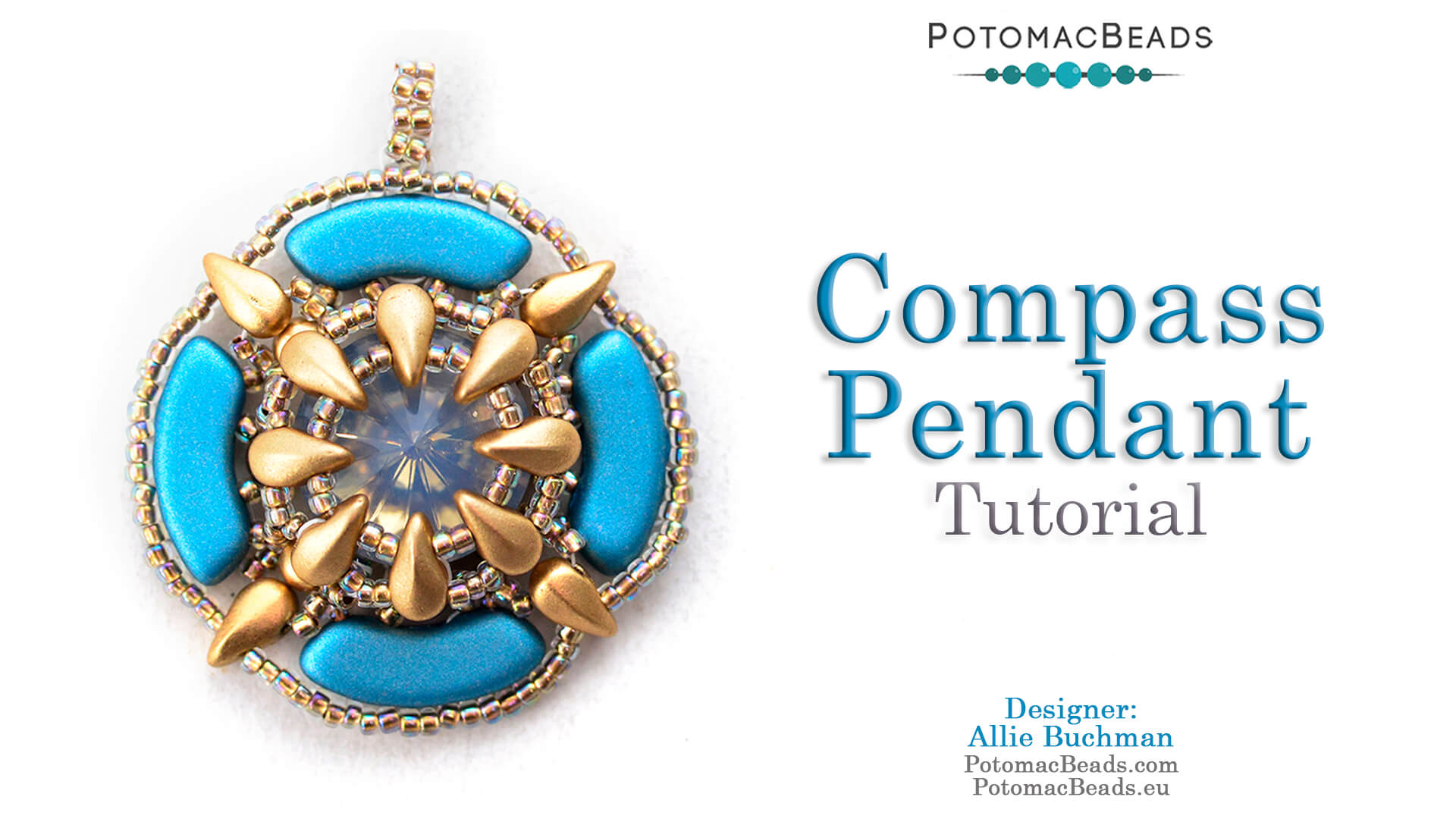 How to Bead Jewelry / Videos Sorted by Beads / QuadBow & PieDuo Bead Videos / Compass Pendant Tutorial