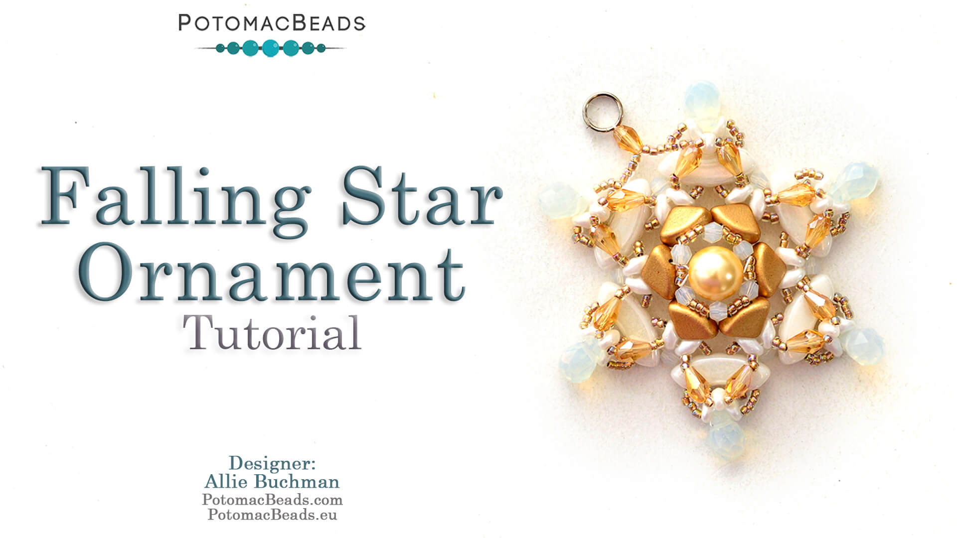 How to Bead / Videos Sorted by Beads / Pearl Videos (Czech & Freshwater) / Falling Star Ornament Tutorial