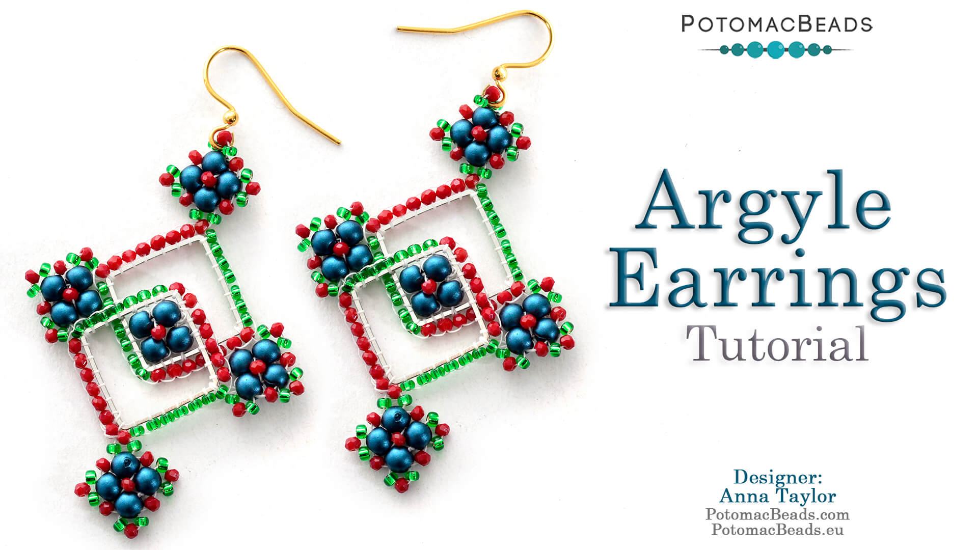 How to Bead Jewelry / Beading Tutorials & Jewel Making Videos / Holiday Themed Projects / Argyle Earrings Tutorial