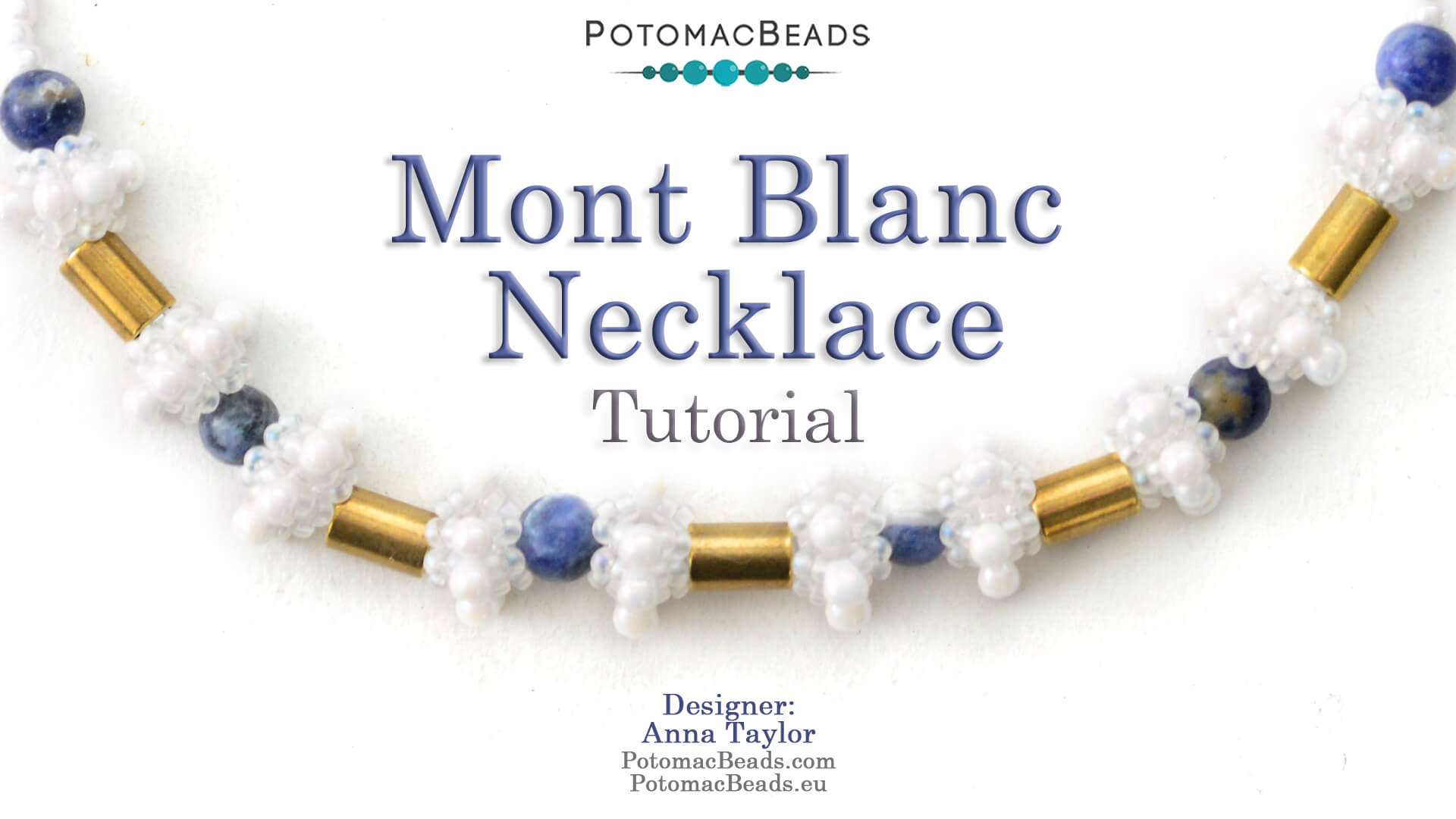 How to Bead / Videos Sorted by Beads / Gemstone Videos / Mont Blanc Necklace Tutorial