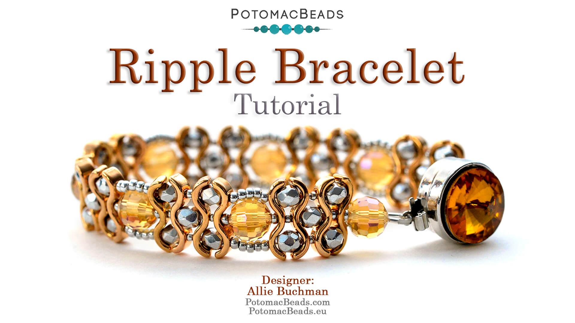 How to Bead Jewelry / Beading Tutorials & Jewel Making Videos / Bracelet Projects / Ripple Bracelet Tutorial
