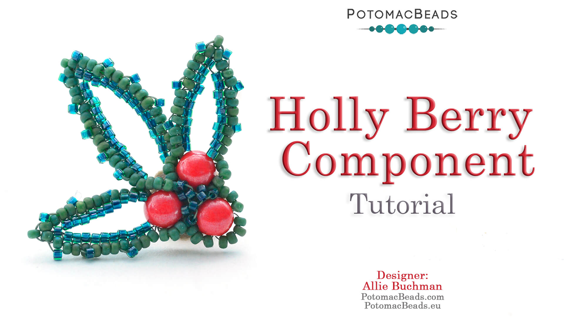 How to Bead / Videos Sorted by Beads / Cabochon Videos / Holly Berry Component Tutorial