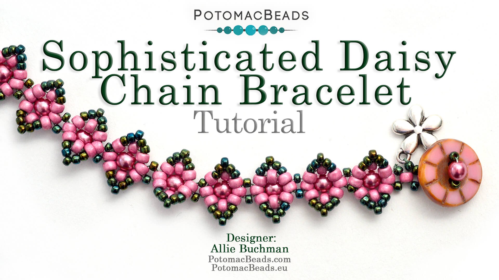 How to Bead Jewelry / Videos Sorted by Beads / Pearl Videos (Czech, Freshwater, Potomac Pearls) / Sophisticated Daisy Chain Bracelet Tutorial