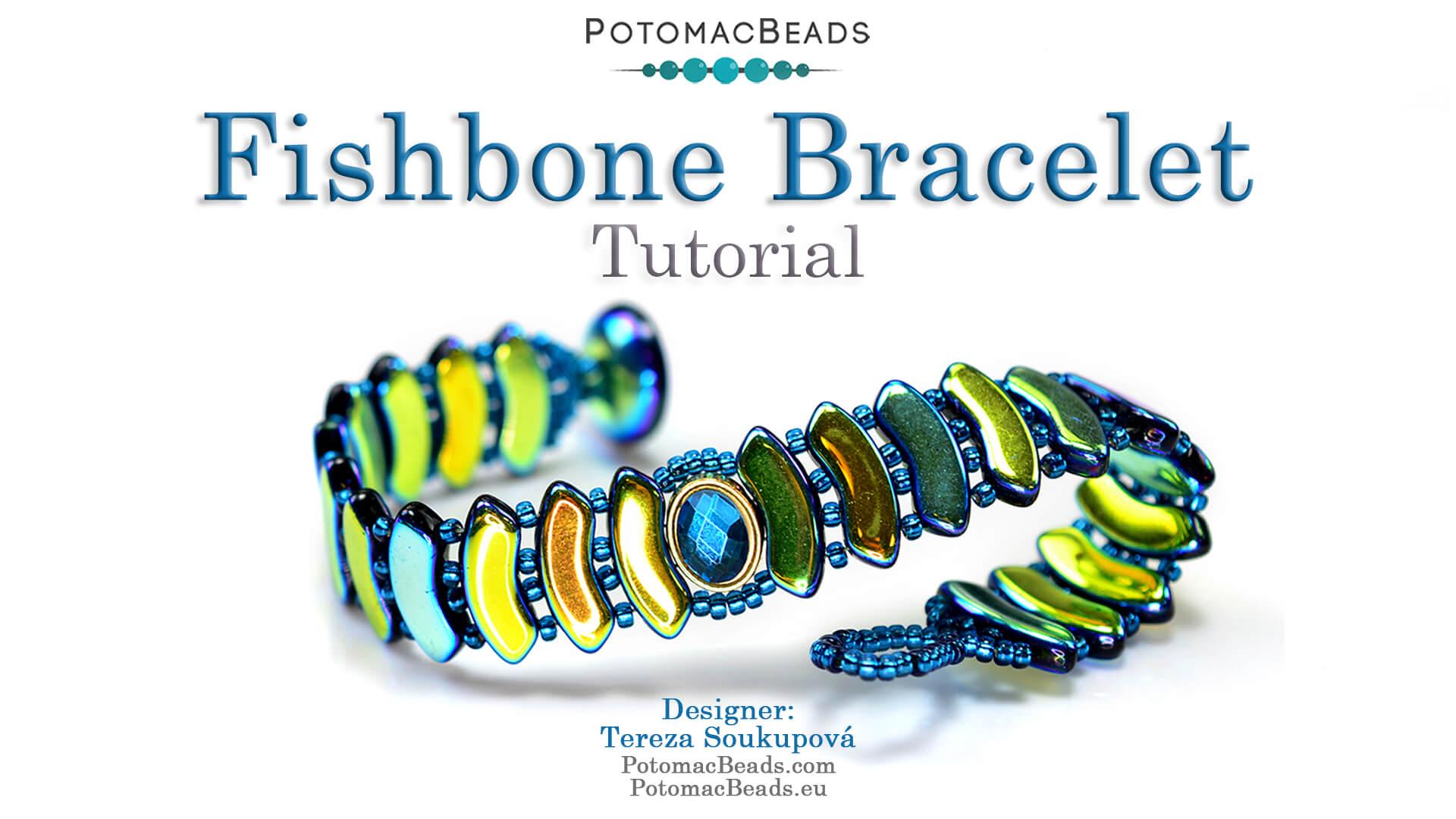 How to Bead / Videos Sorted by Beads / QuadBow & PieDuo Bead Videos / Fishbone Bracelet Tutorial