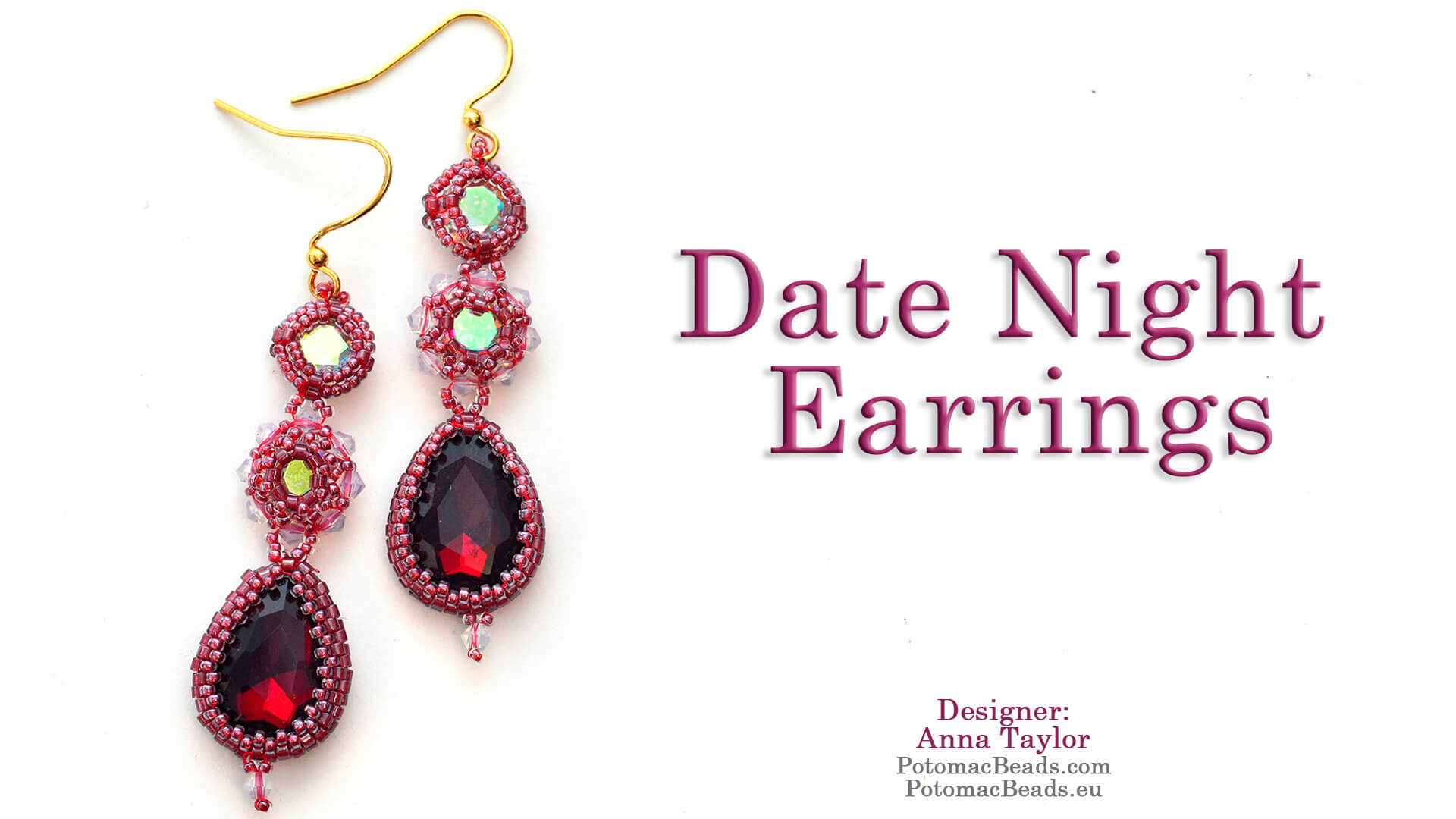 How to Bead / Free Video Tutorials / Earring Projects / Date Night Earrings Tutorial